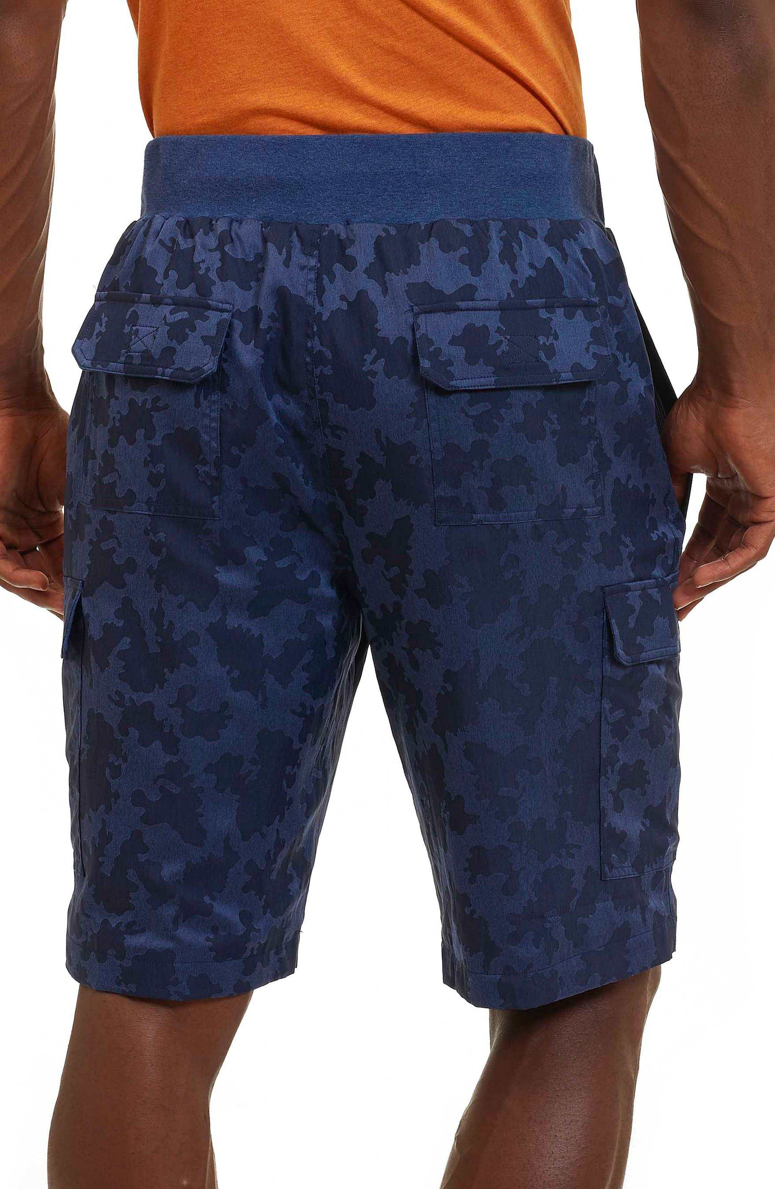 Anish Camo Cargo Shorts,                             Alternate thumbnail 2, color,                             Blue