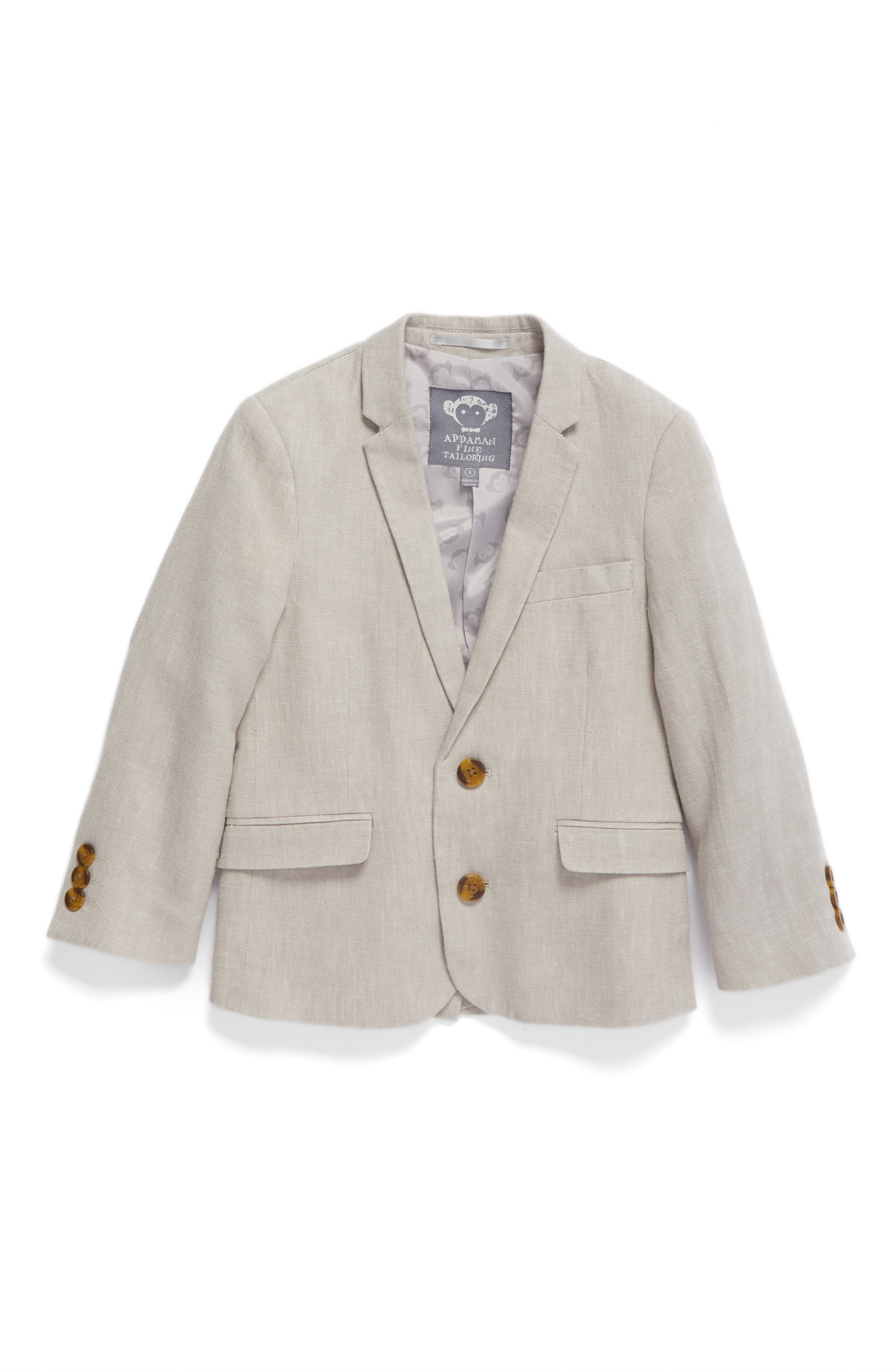 Alternate Image 1 Selected - Appaman Linen Suit Jacket (Toddler Boys, Little Boys & Big Boys)