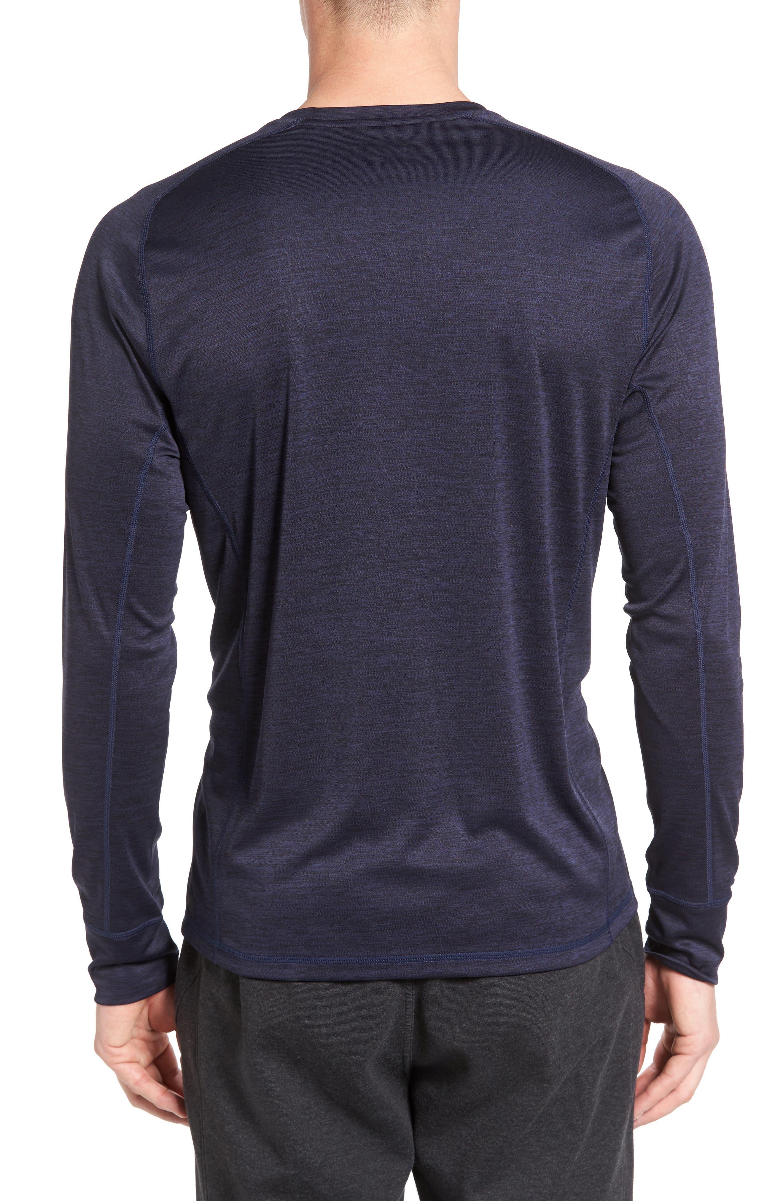 Triplite Long Sleeve T-Shirt,                             Alternate thumbnail 2, color,                             Navy Malachite Melange