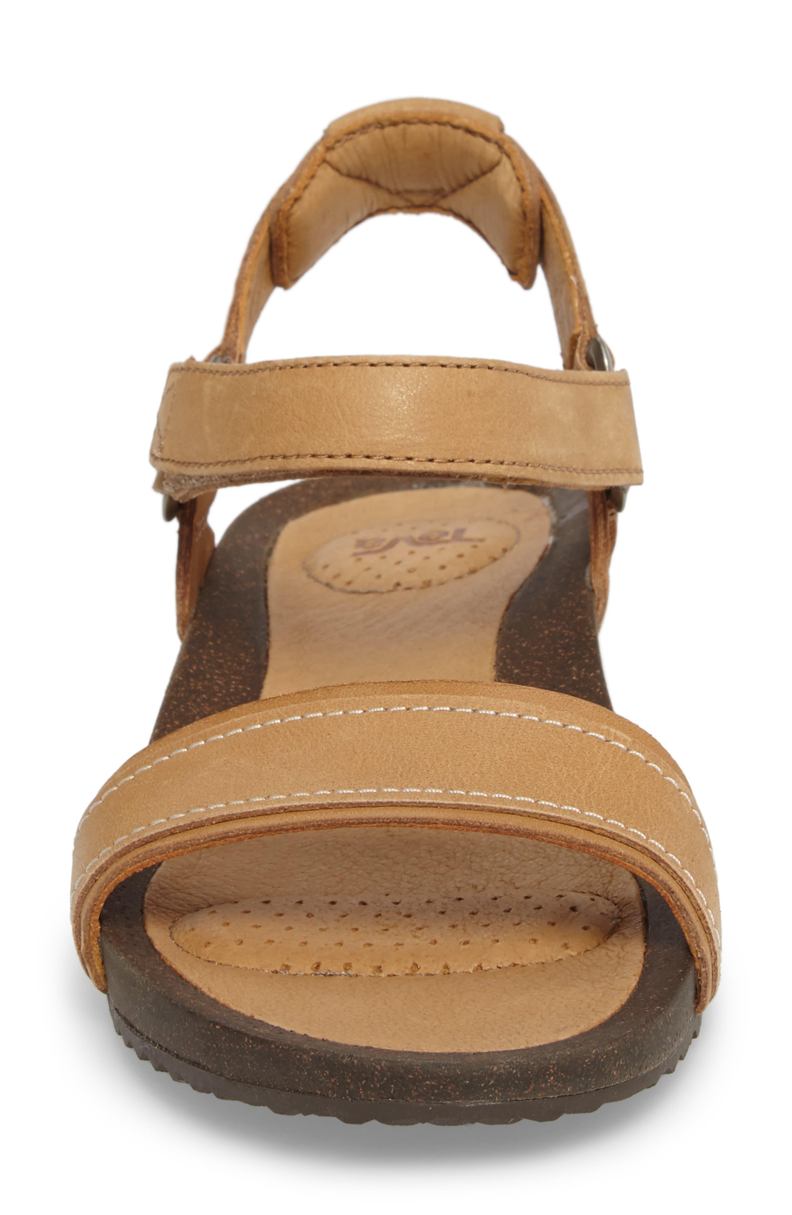 Ysidro Stitch Sandal,                             Alternate thumbnail 4, color,                             Tan Leather