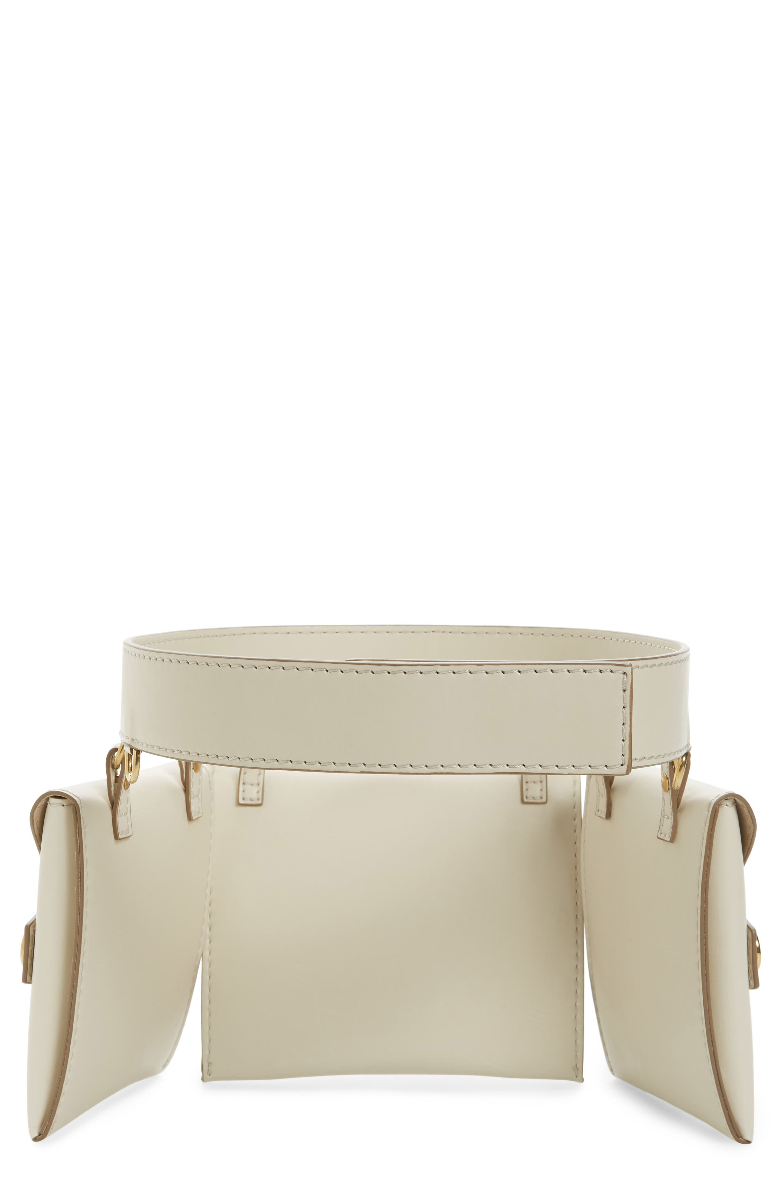 Faux Nappa Fanny Pack,                             Alternate thumbnail 2, color,                             Ivory