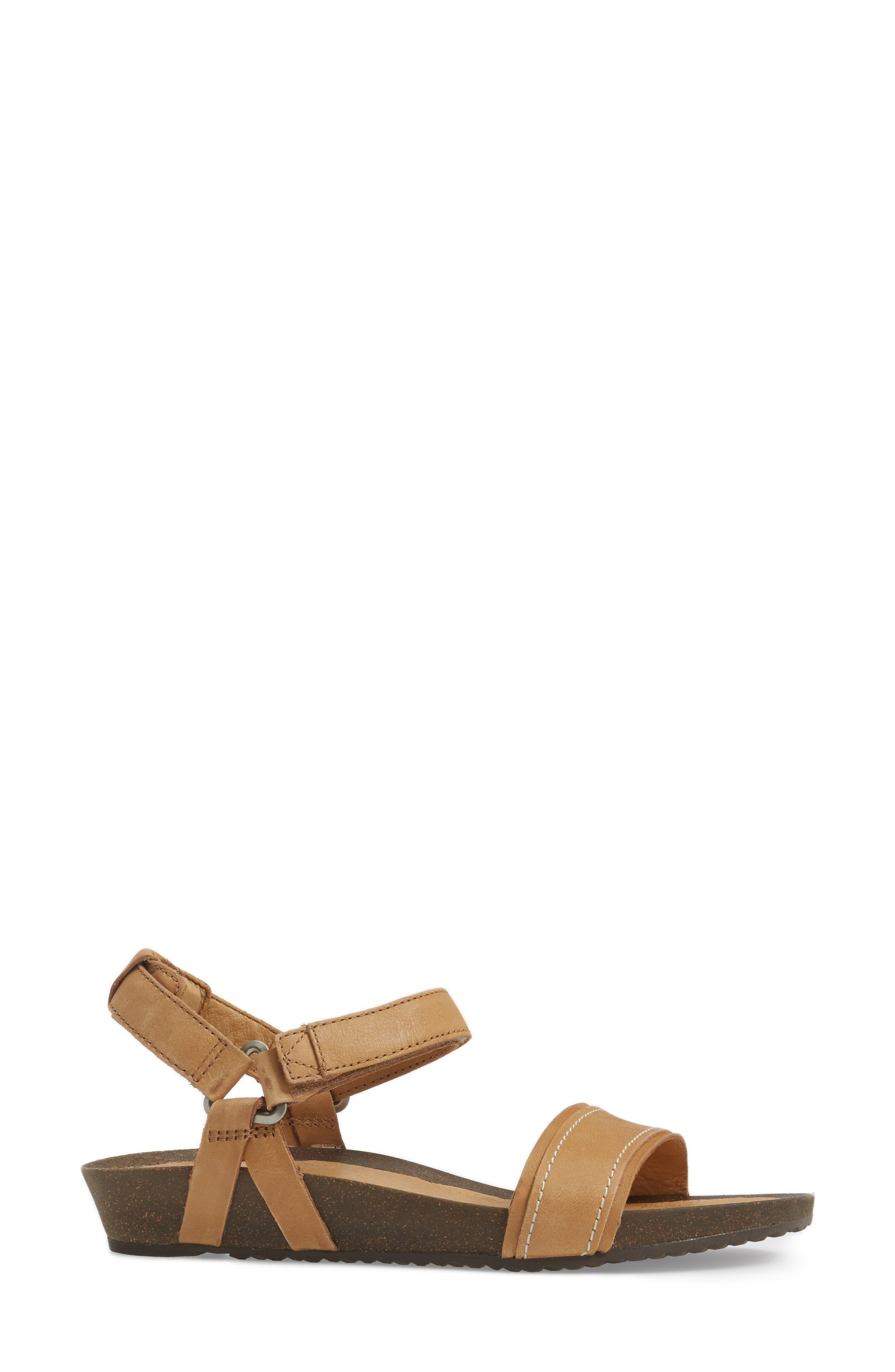 Ysidro Stitch Sandal,                             Alternate thumbnail 3, color,                             Tan Leather