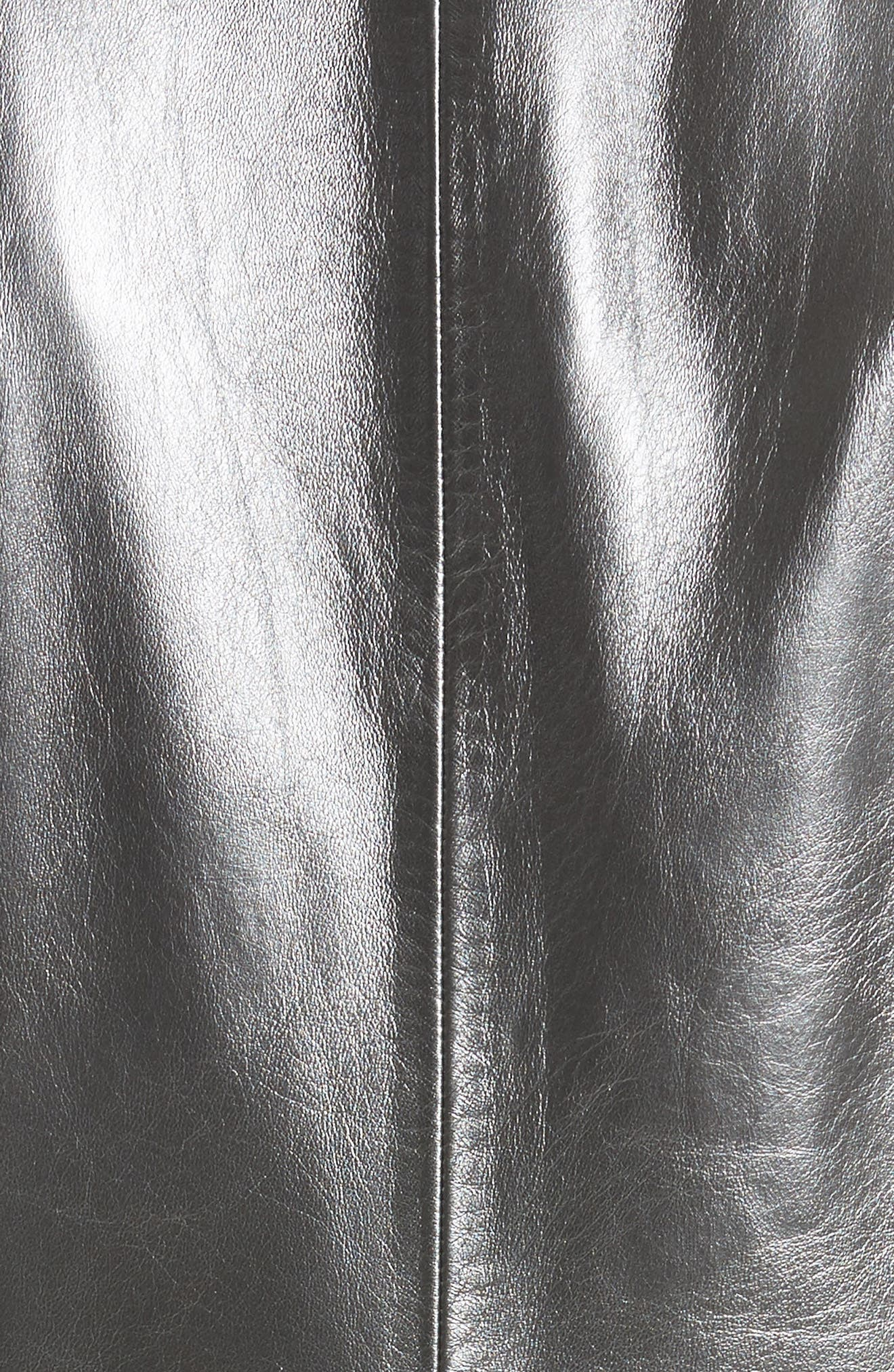 Alternate Image 5  - St. John Collection Pearlized Nappa Leather Jacket