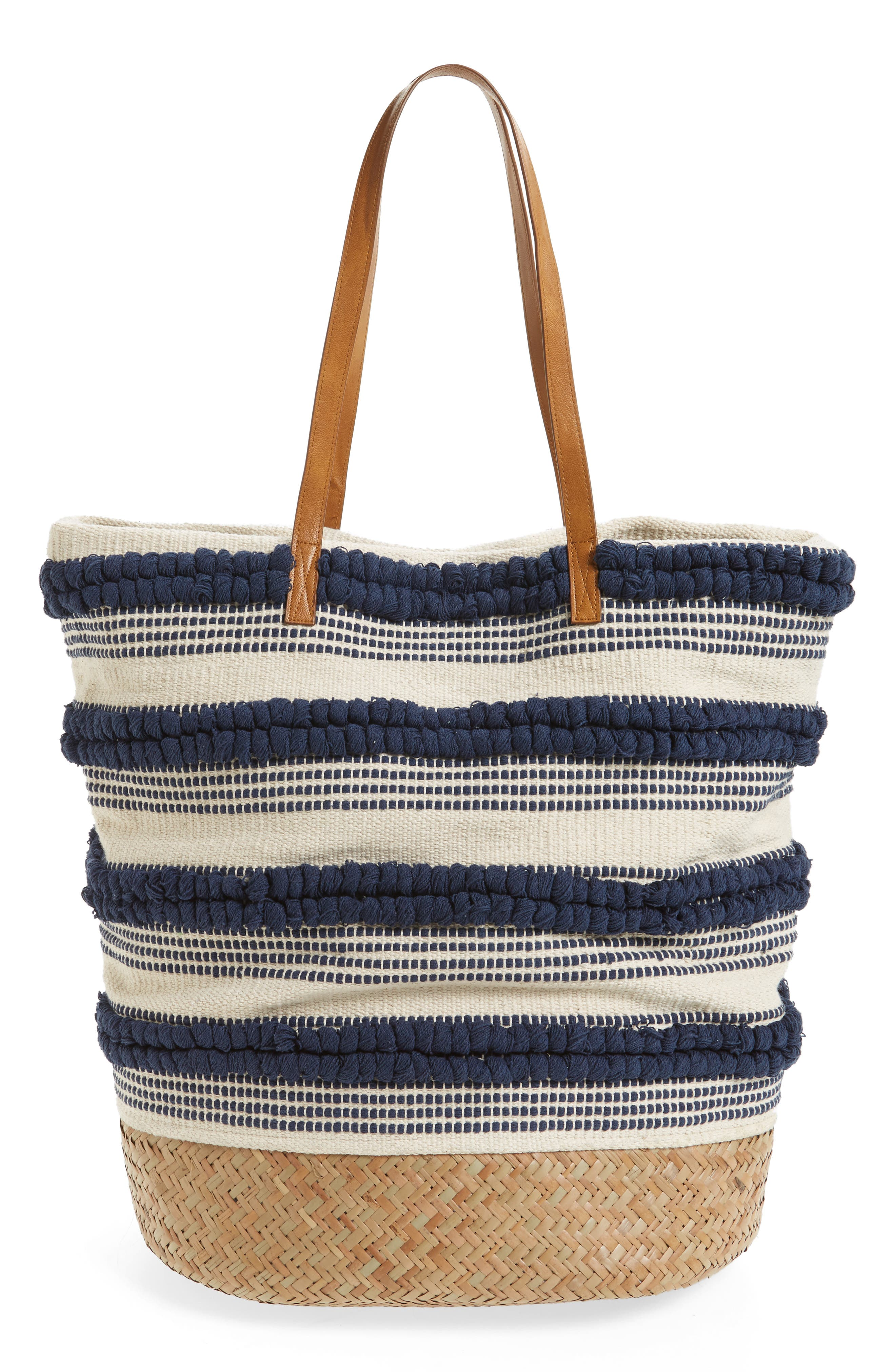 SOLE SOCIETY Woven Bottom Tote