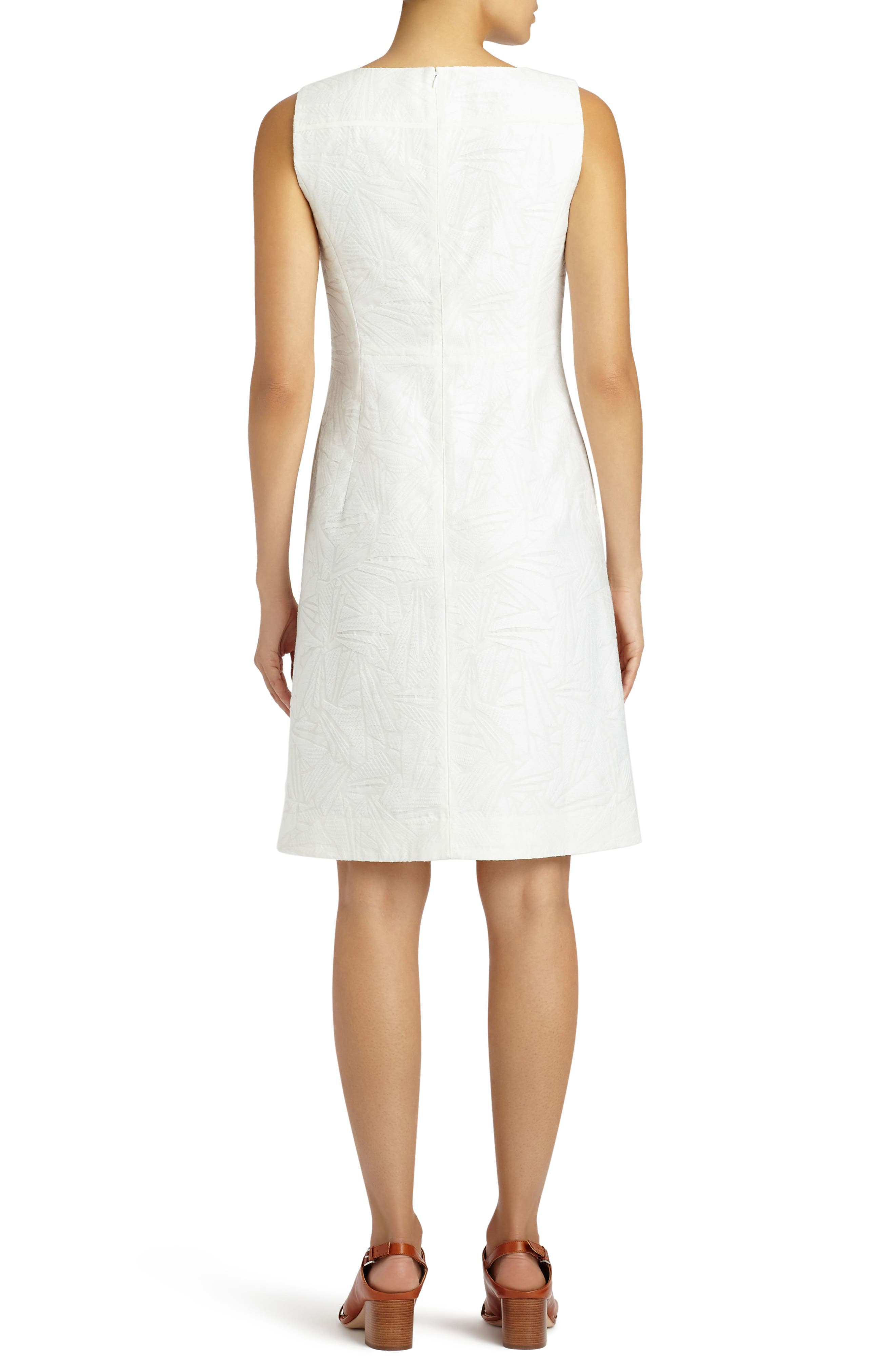 Jojo Fragmented Jacquard Dress,                             Alternate thumbnail 2, color,                             White