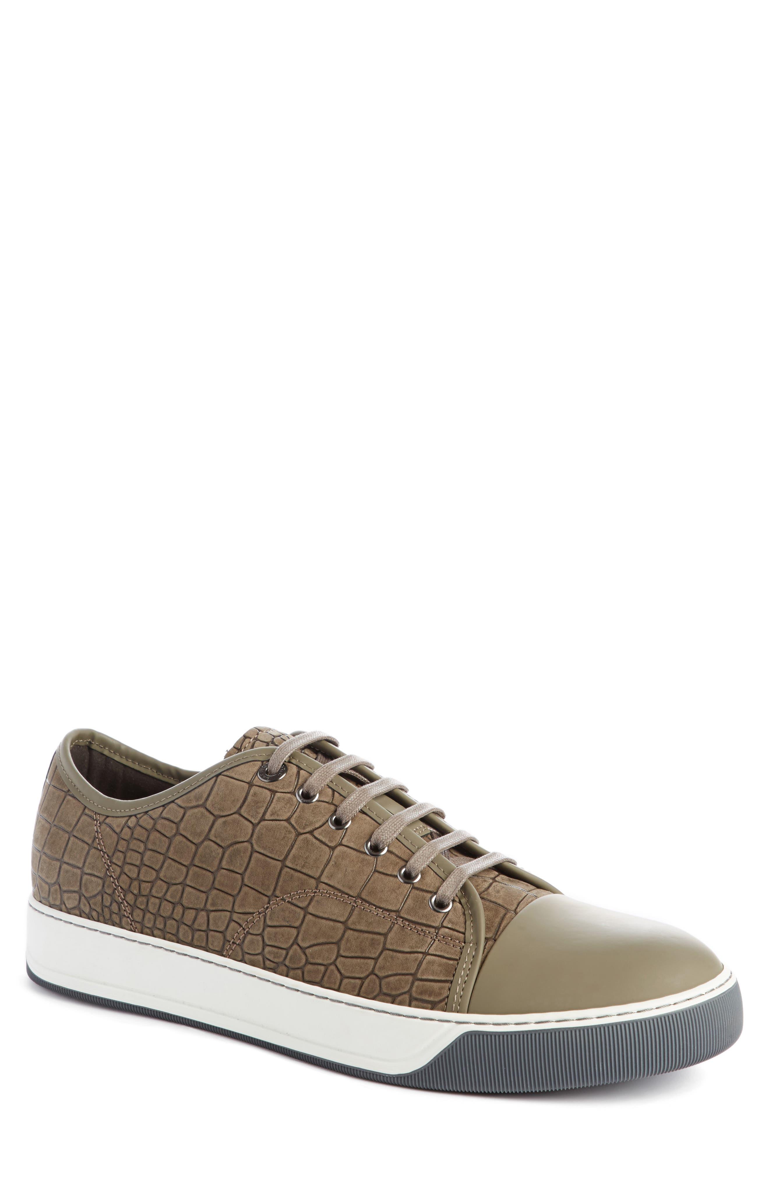 Alternate Image 1 Selected - Lanvin Embossed Nubuck Low Top Sneaker (Men)