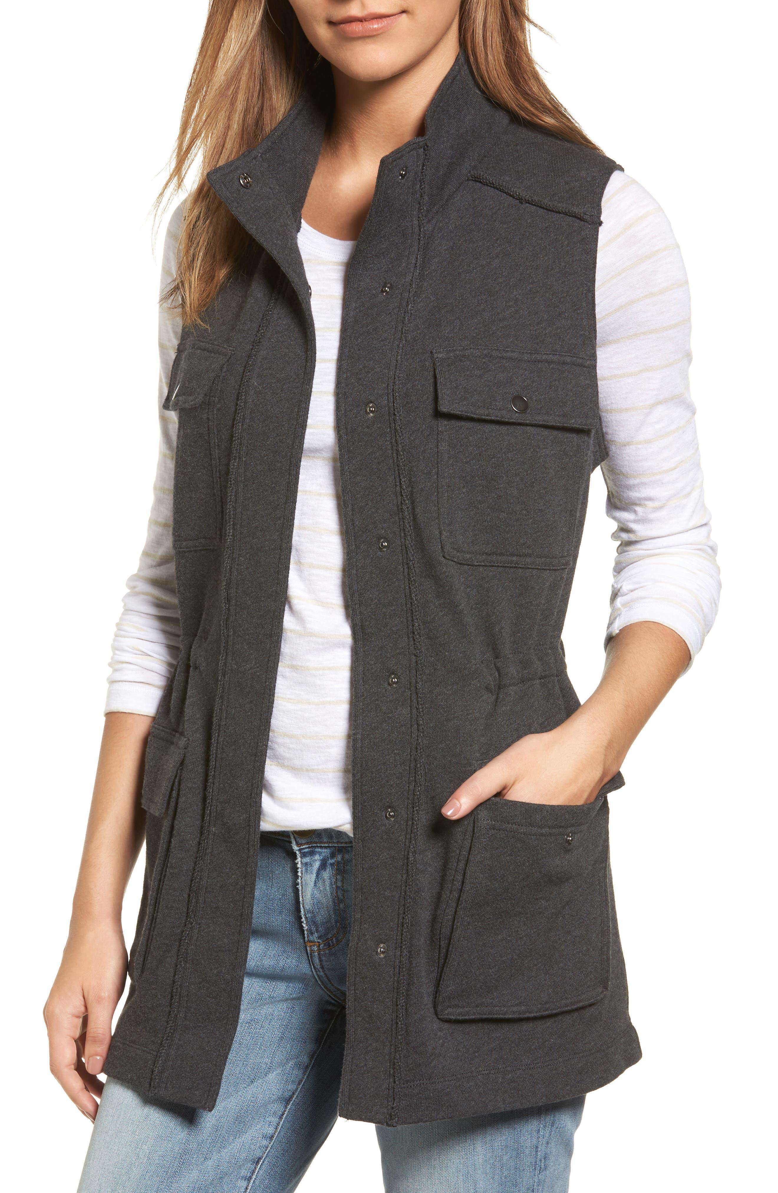 Caslon® Utility Vest (Regular & Petite)