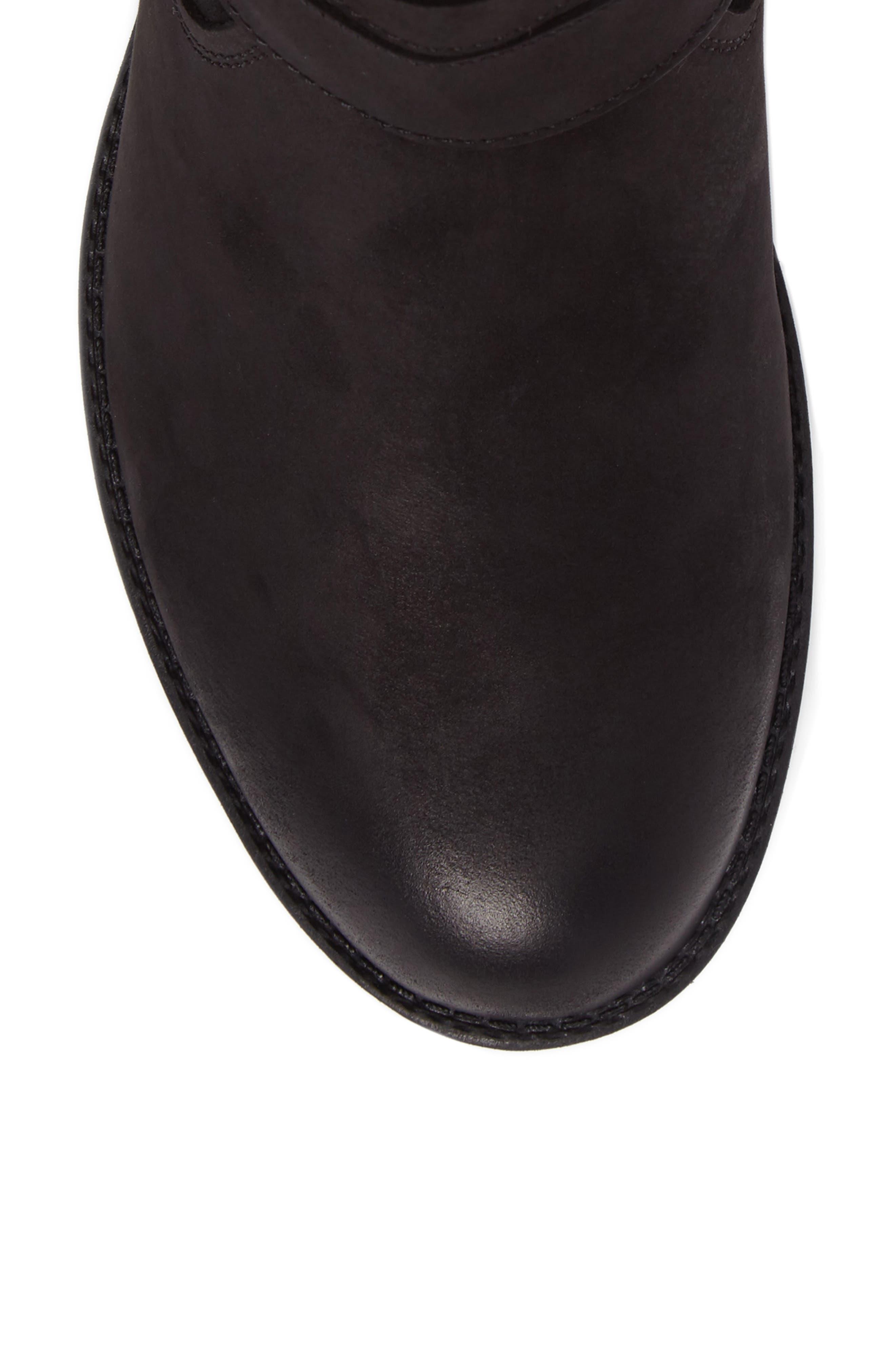 Tula Waterproof Boot,                             Alternate thumbnail 6, color,                             Black Nubuck Leather