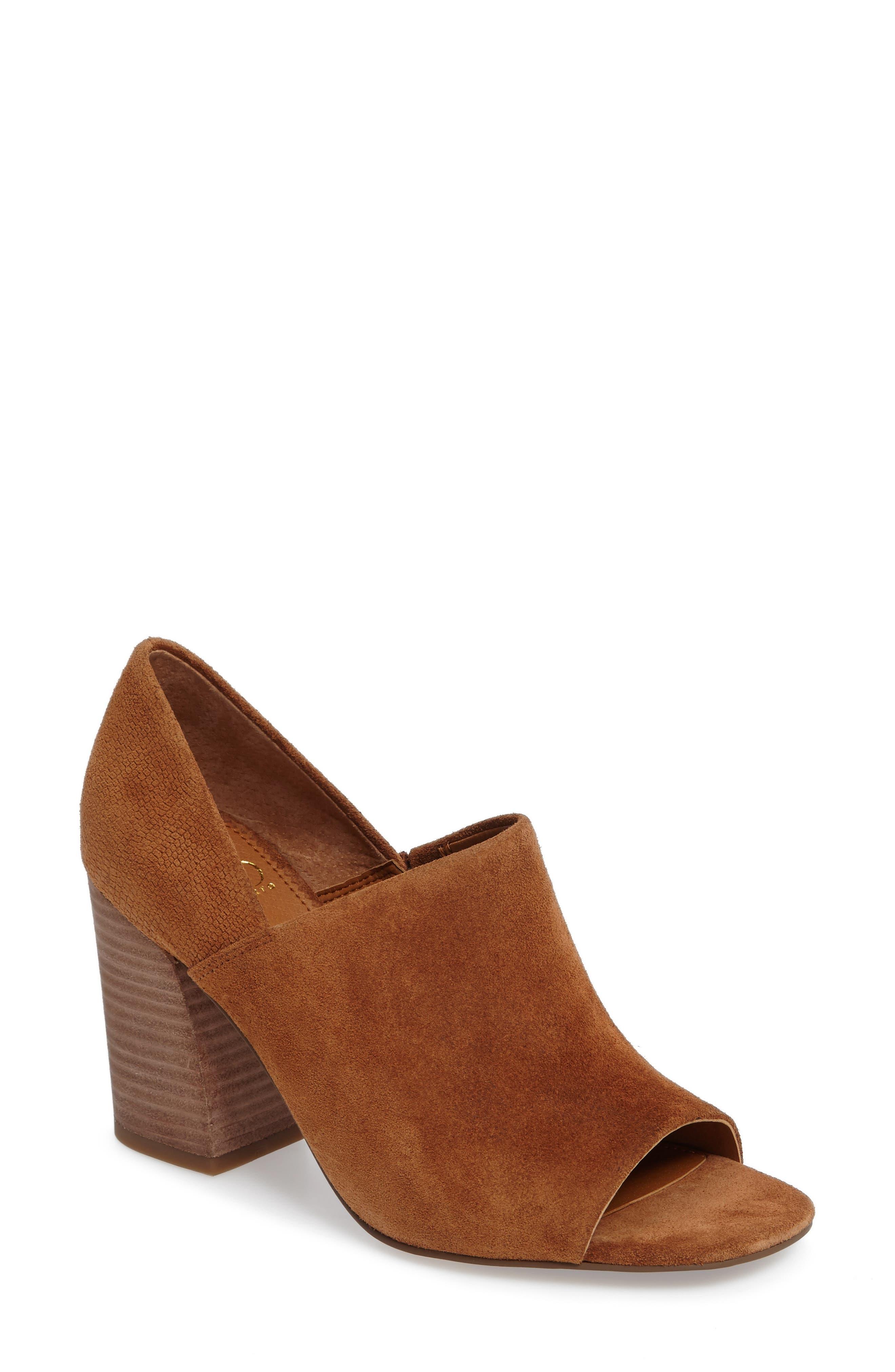 Ellison Block Heel Sandal,                         Main,                         color, Whiskey Suede