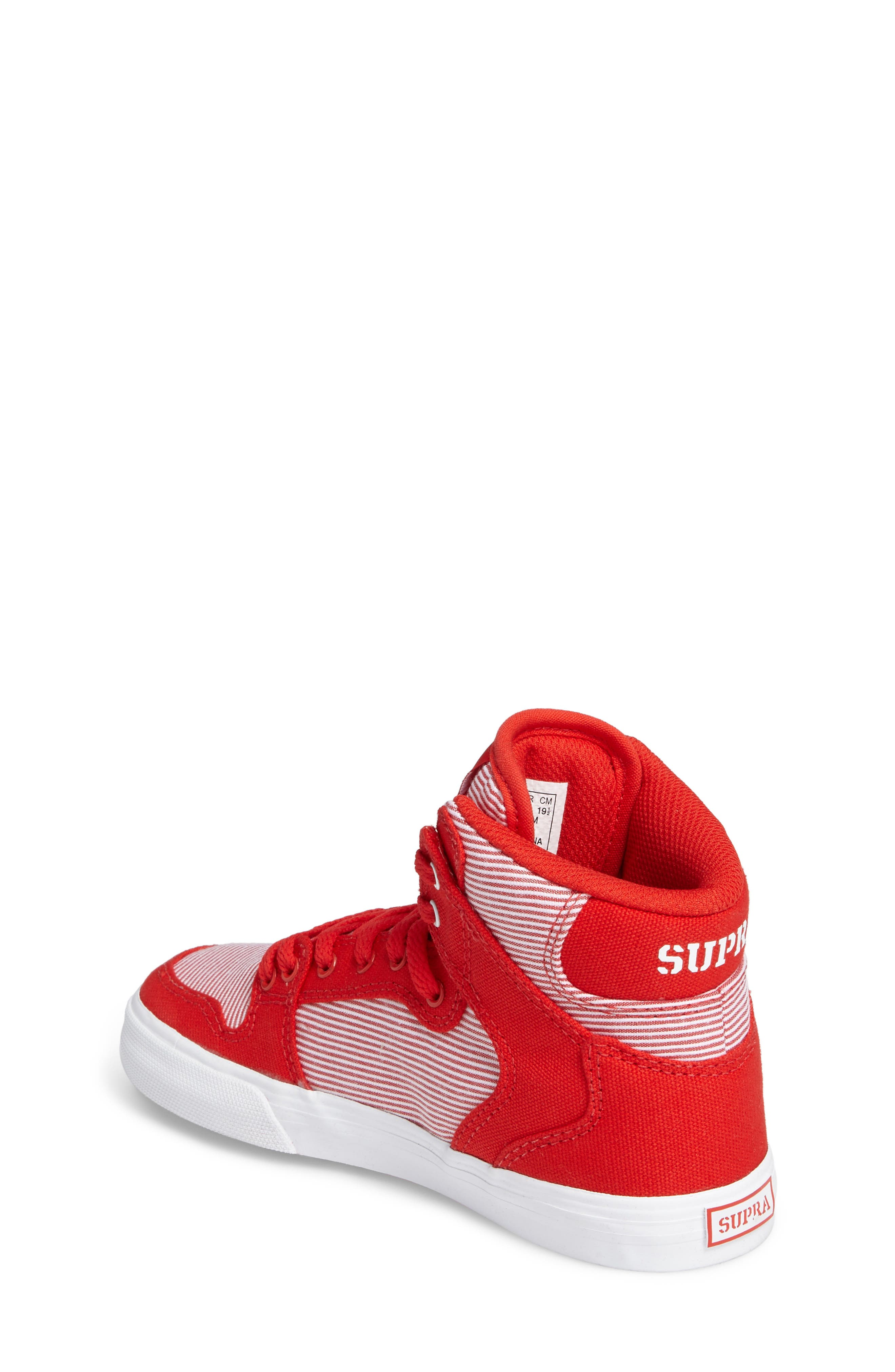 Vaider High Top Sneaker,                             Alternate thumbnail 2, color,                             Red/ White