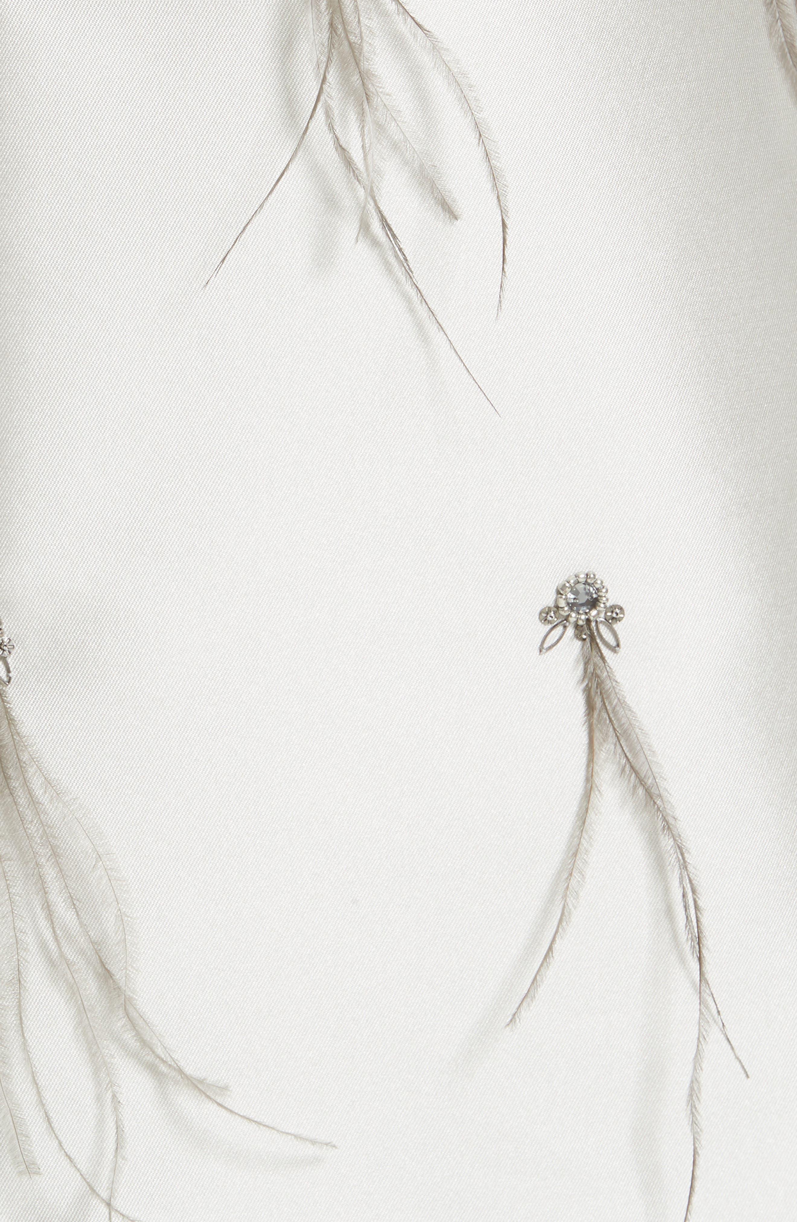 Alternate Image 5  - St. John Collection Mikado Embellished A-Line Dress
