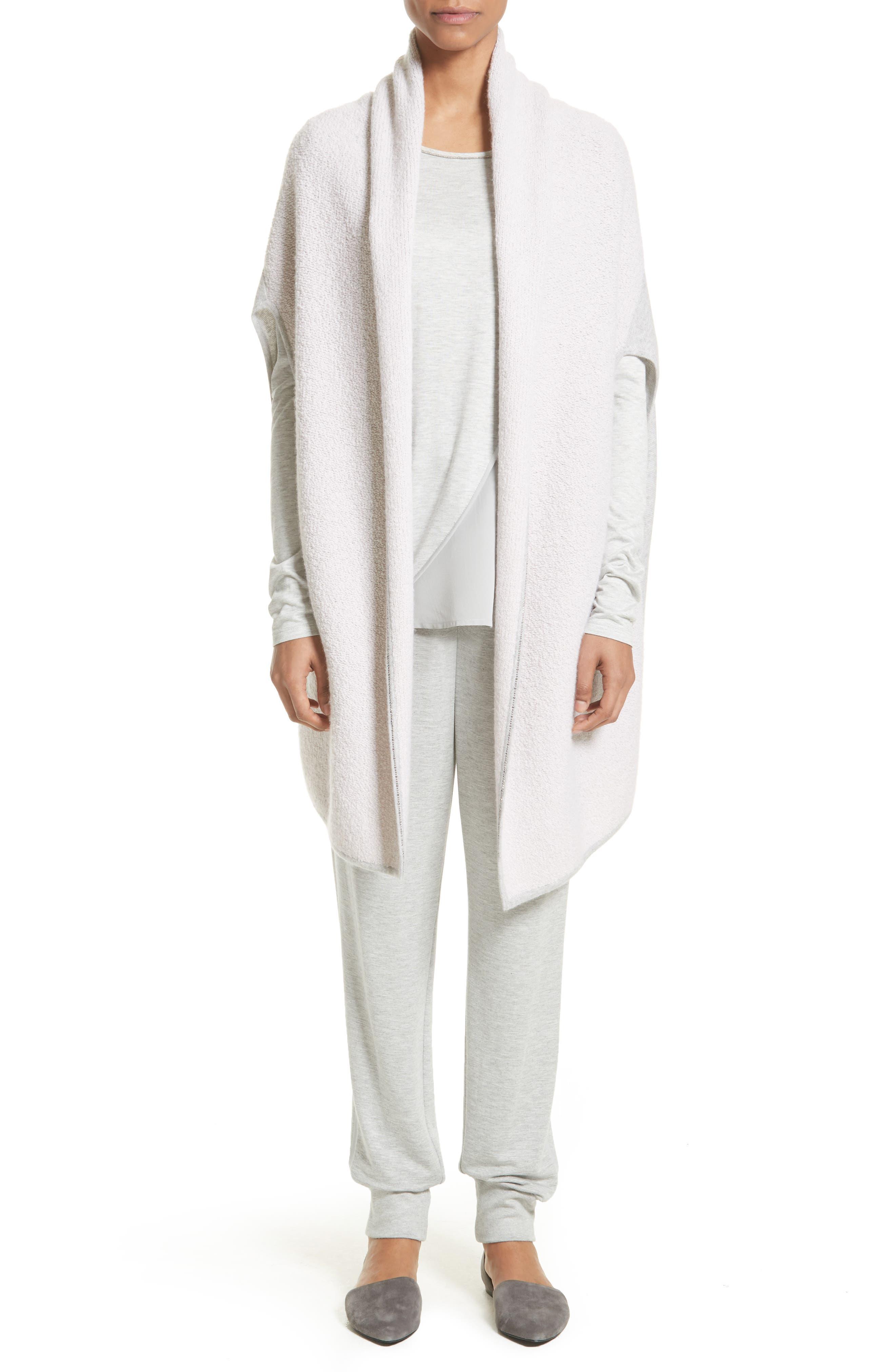 Alternate Image 7  - St. John Collection Cashmere Jersey Cardigan