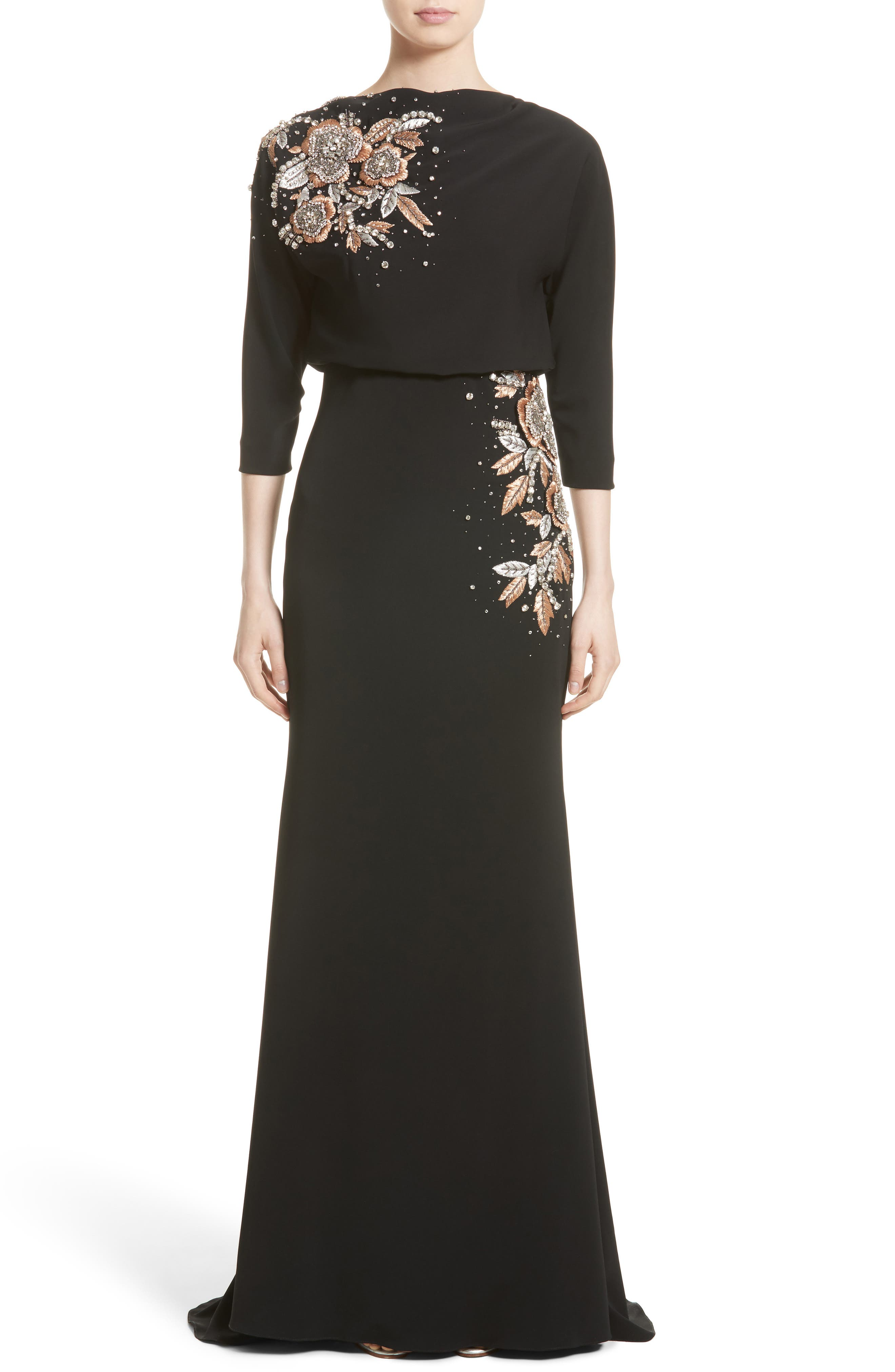 Badgley Mischka Couture Embellished Blouson Gown (Nordstrom Exclusive)