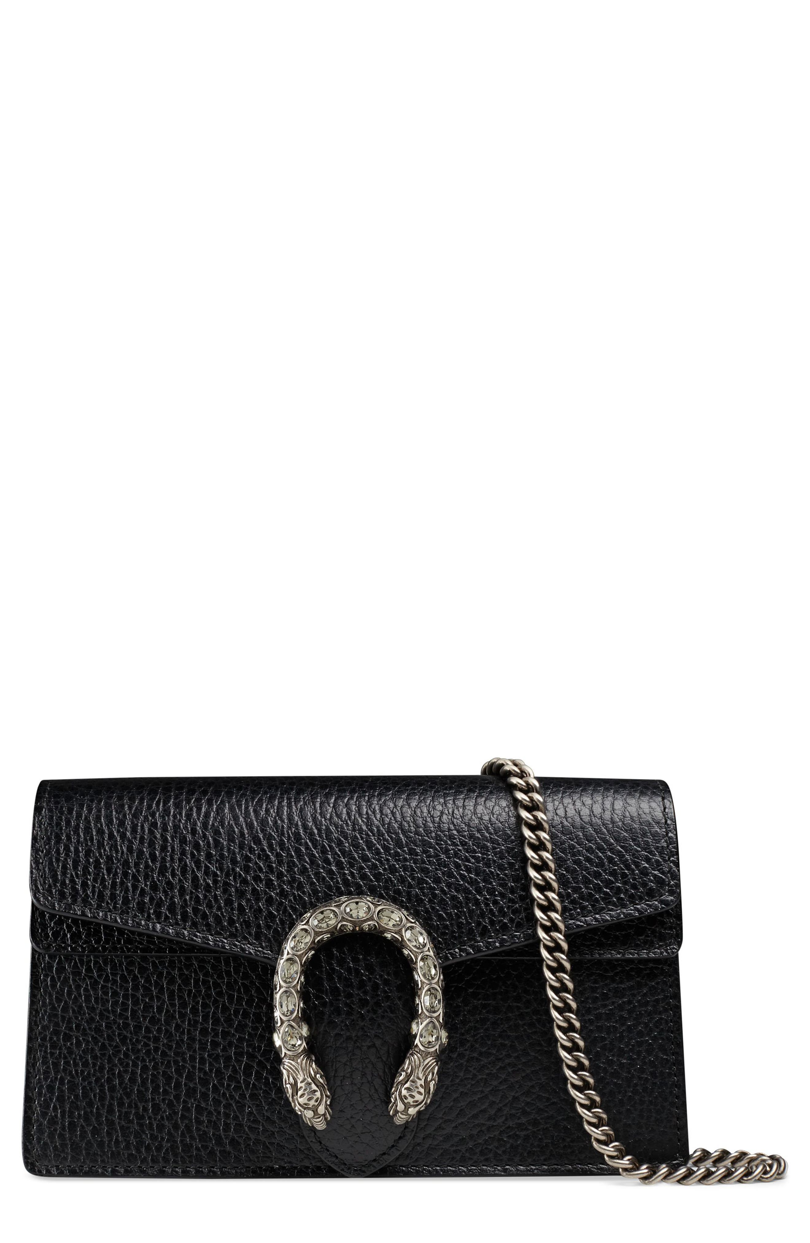 Gucci Super Mini Dionysus Leather Shoulder Bag