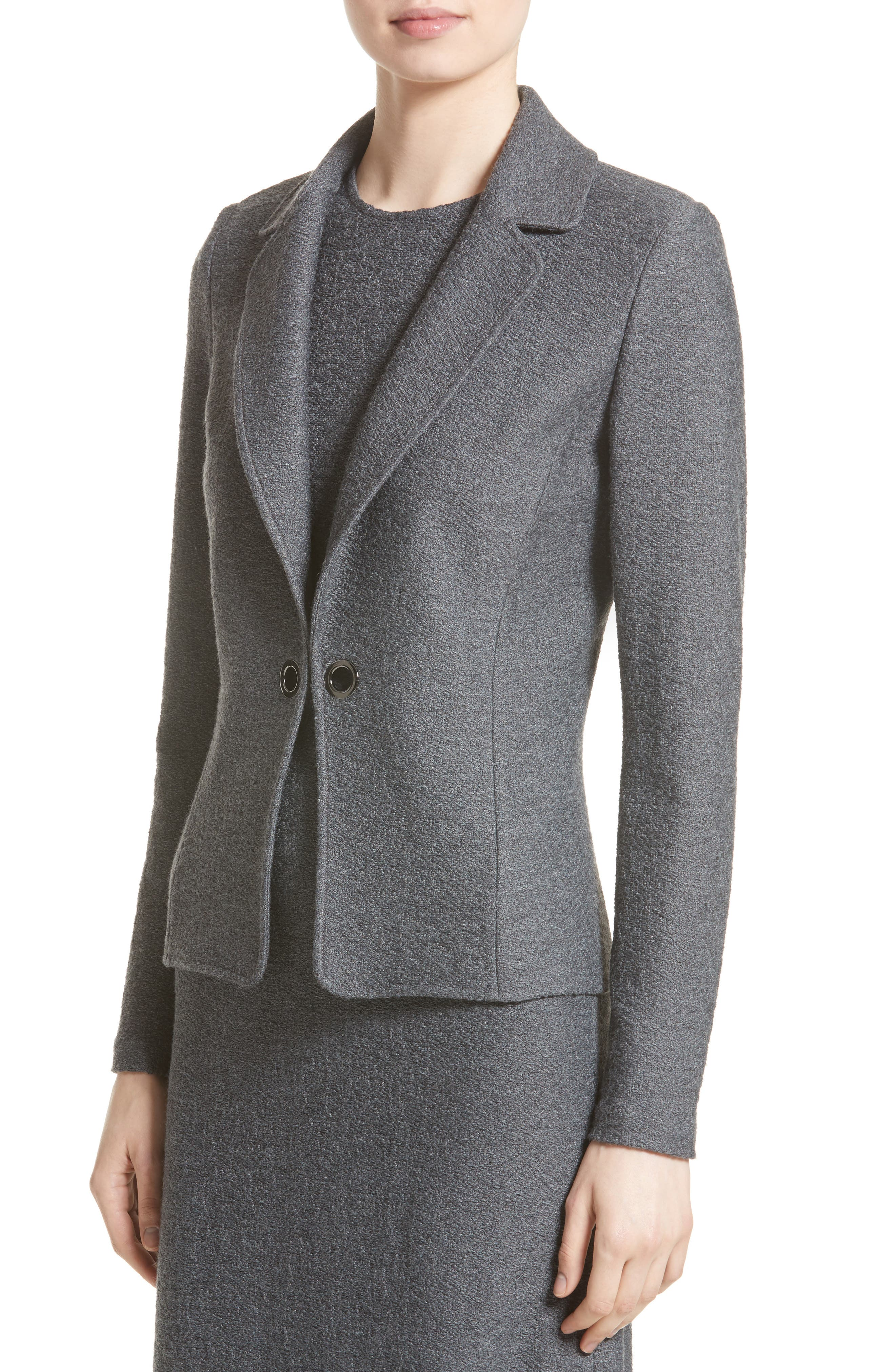 Alternate Image 4  - St. John Collection Clair Grommet Detail Knit Jacket