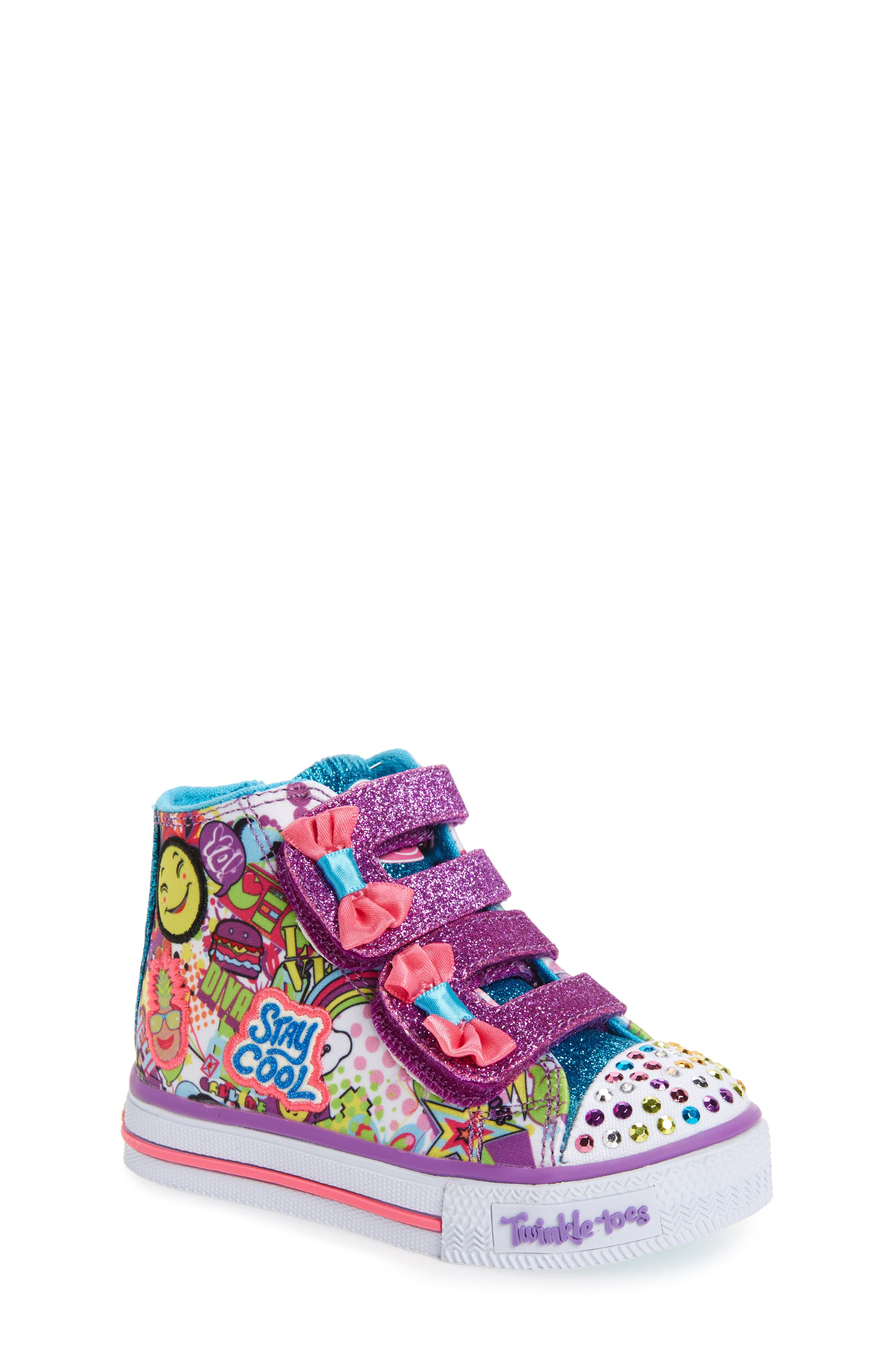 Alternate Image 1 Selected - SKECHERS Twinkle Toes Shuffles Light-Up Sneaker (Walker & Toddler)