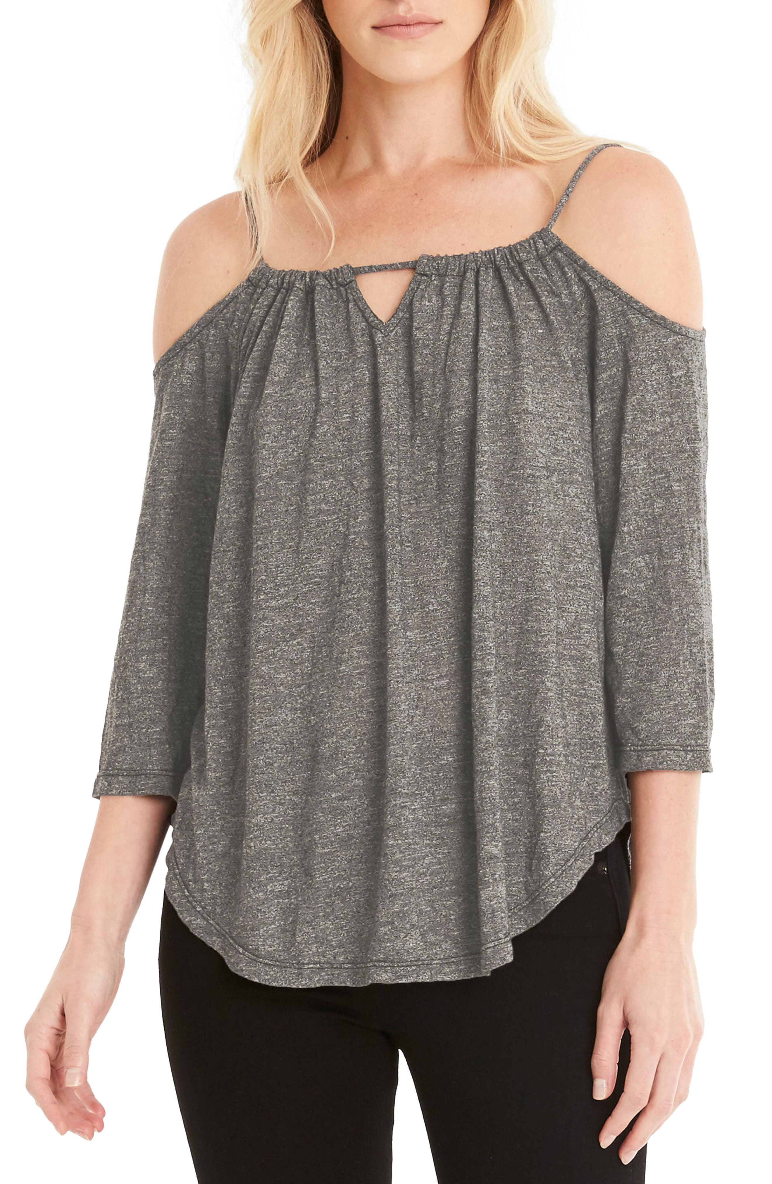 Switchable Off the Shoulder Top,                         Main,                         color, Olive Moss
