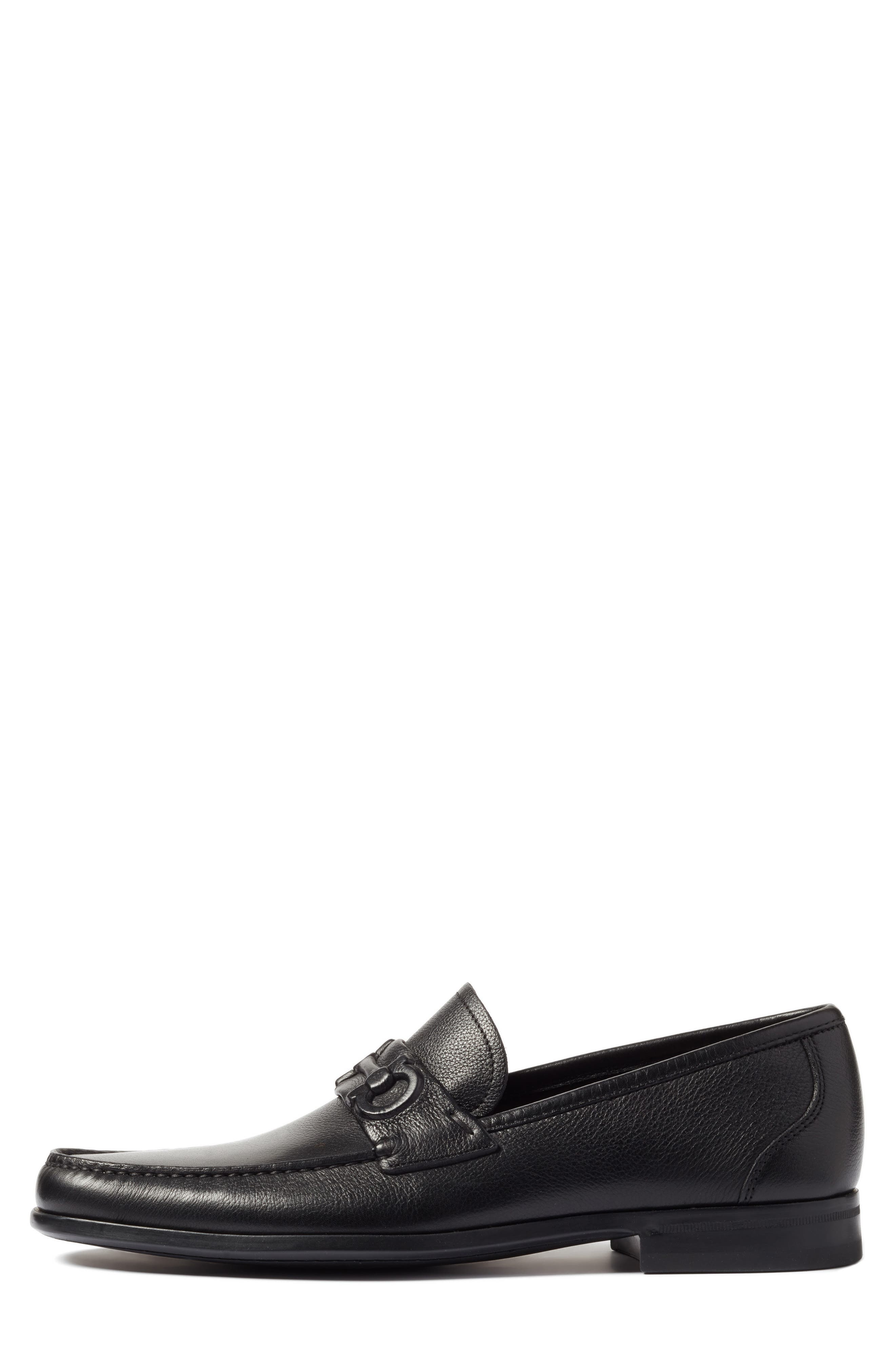 Bit Loafer,                             Alternate thumbnail 3, color,                             Nero Leather