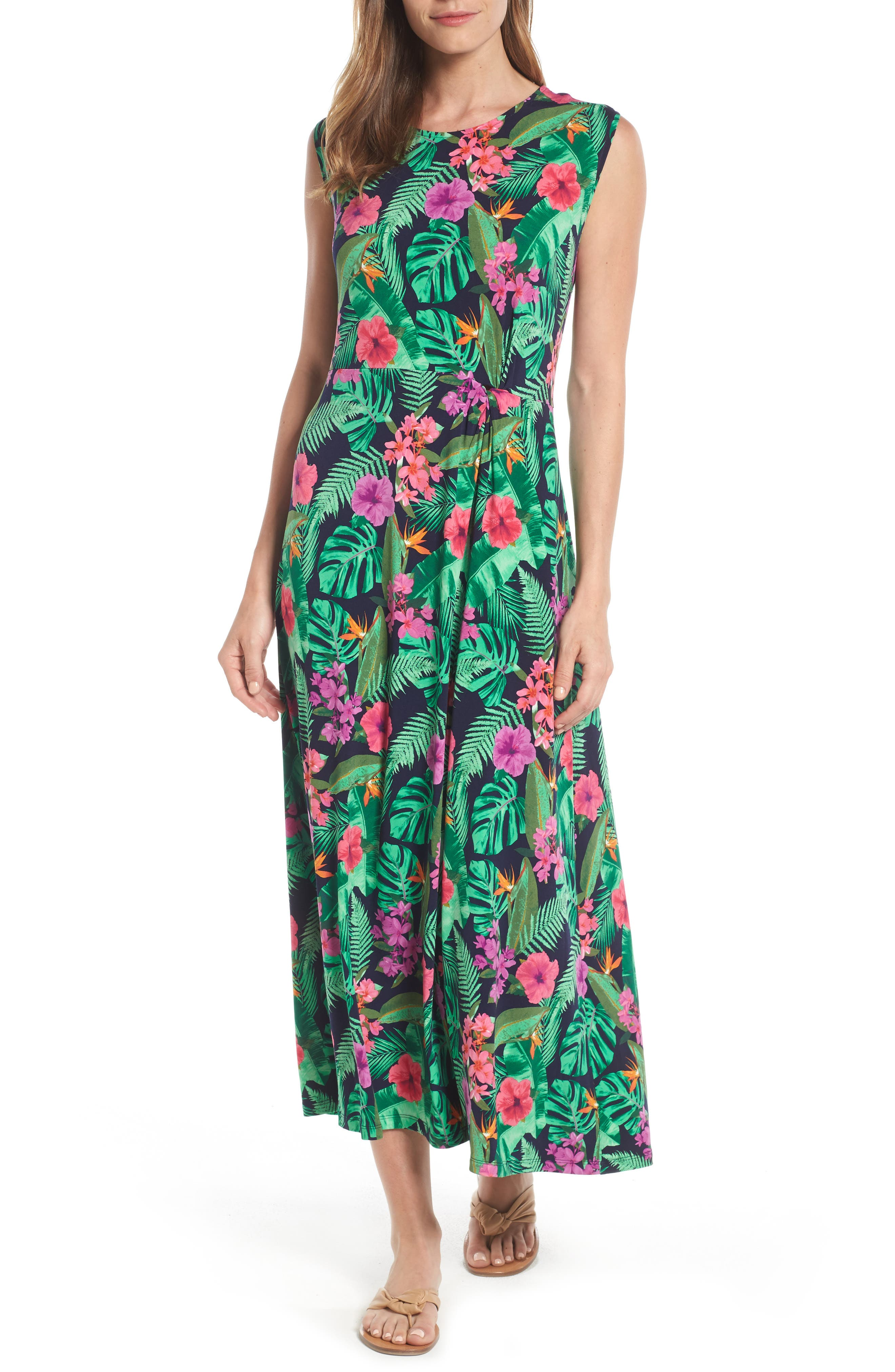 CHAUS Rainforest Floral Maxi Dress