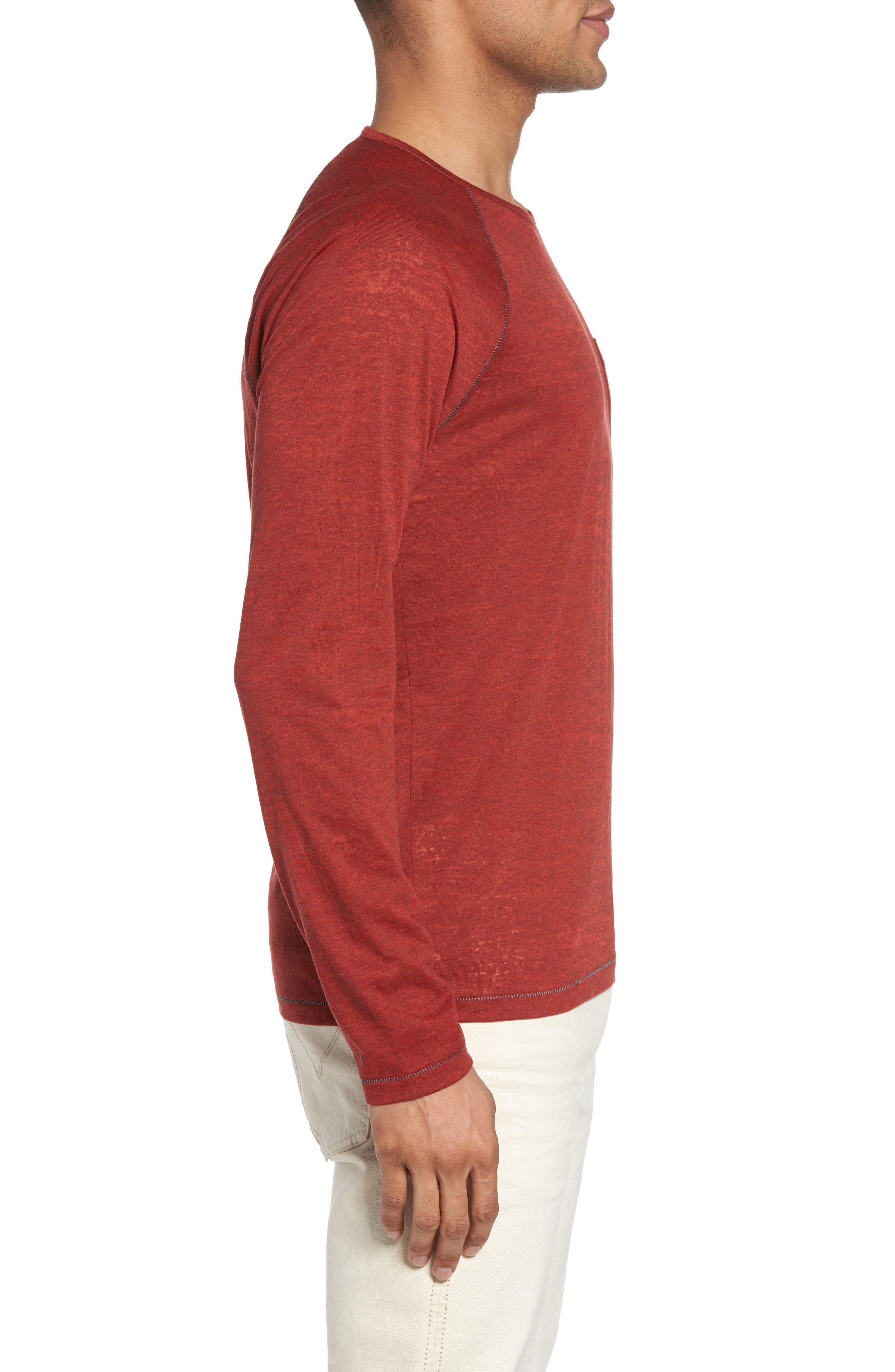 Raglan Sleeve T-Shirt,                             Alternate thumbnail 3, color,                             Tomato