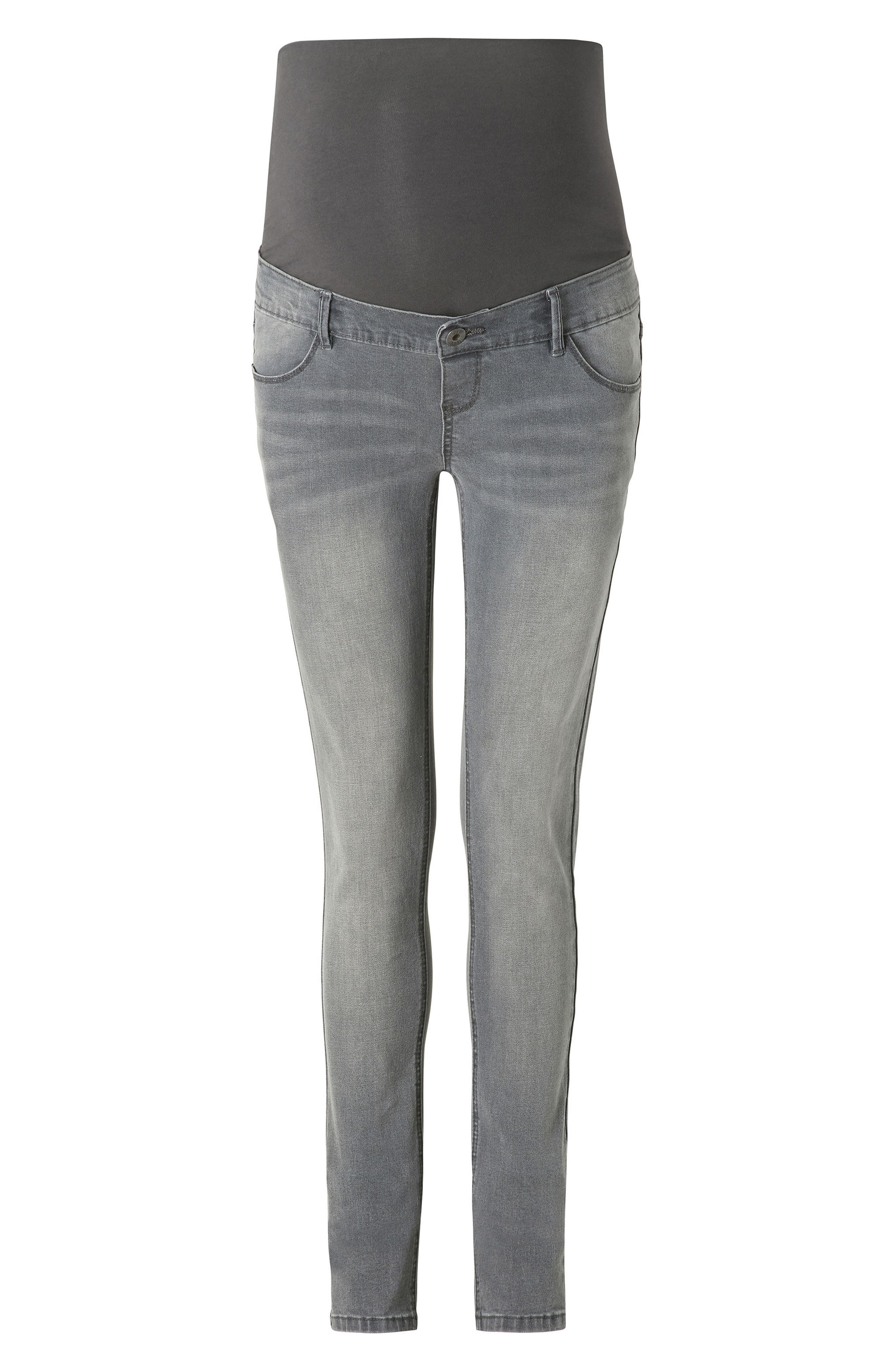 Avi Skinny Maternity Jeans,                             Main thumbnail 1, color,                             Grey Denim