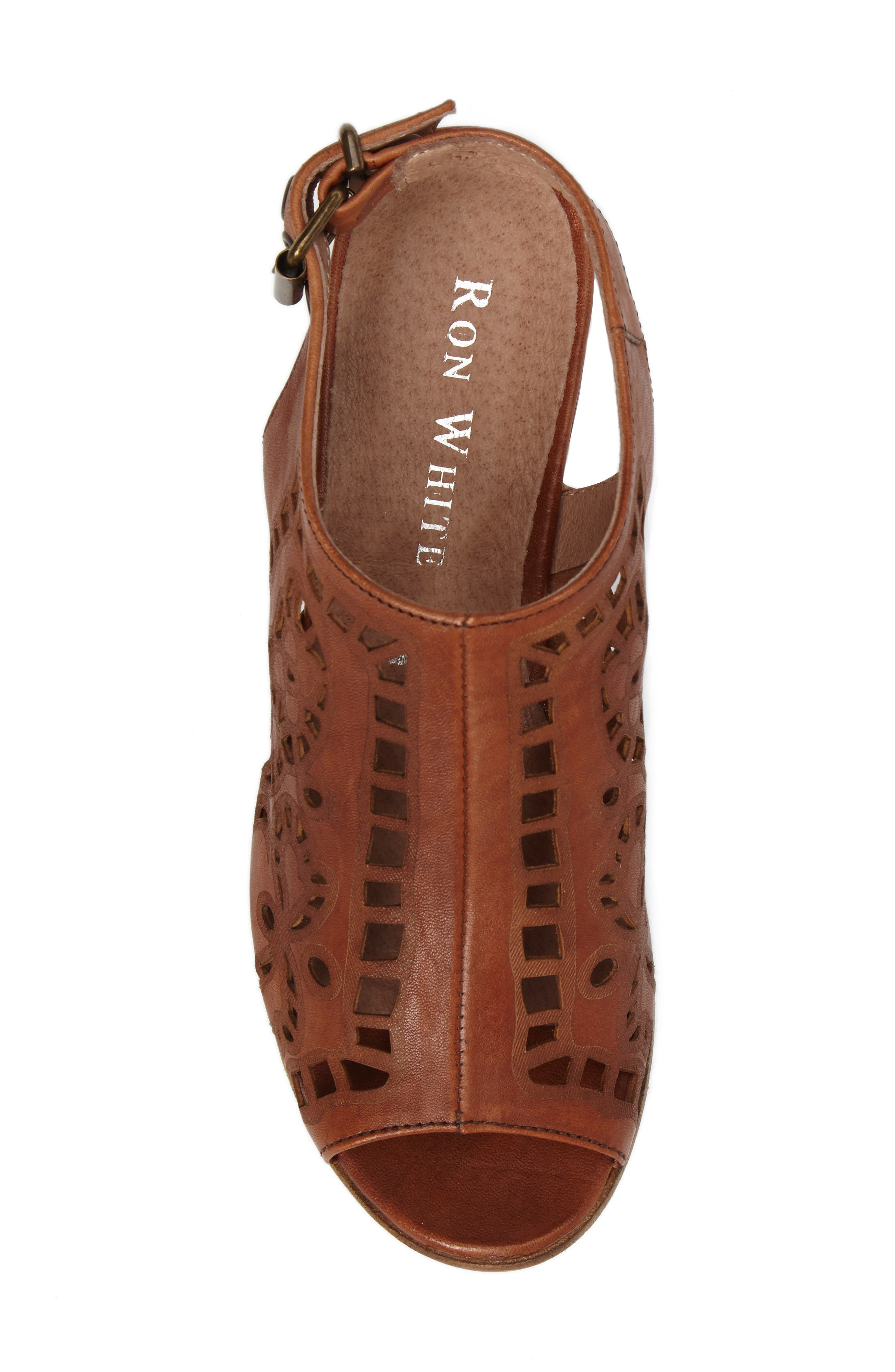 Ally Slingback Sandal,                             Alternate thumbnail 5, color,                             Cognac Leather