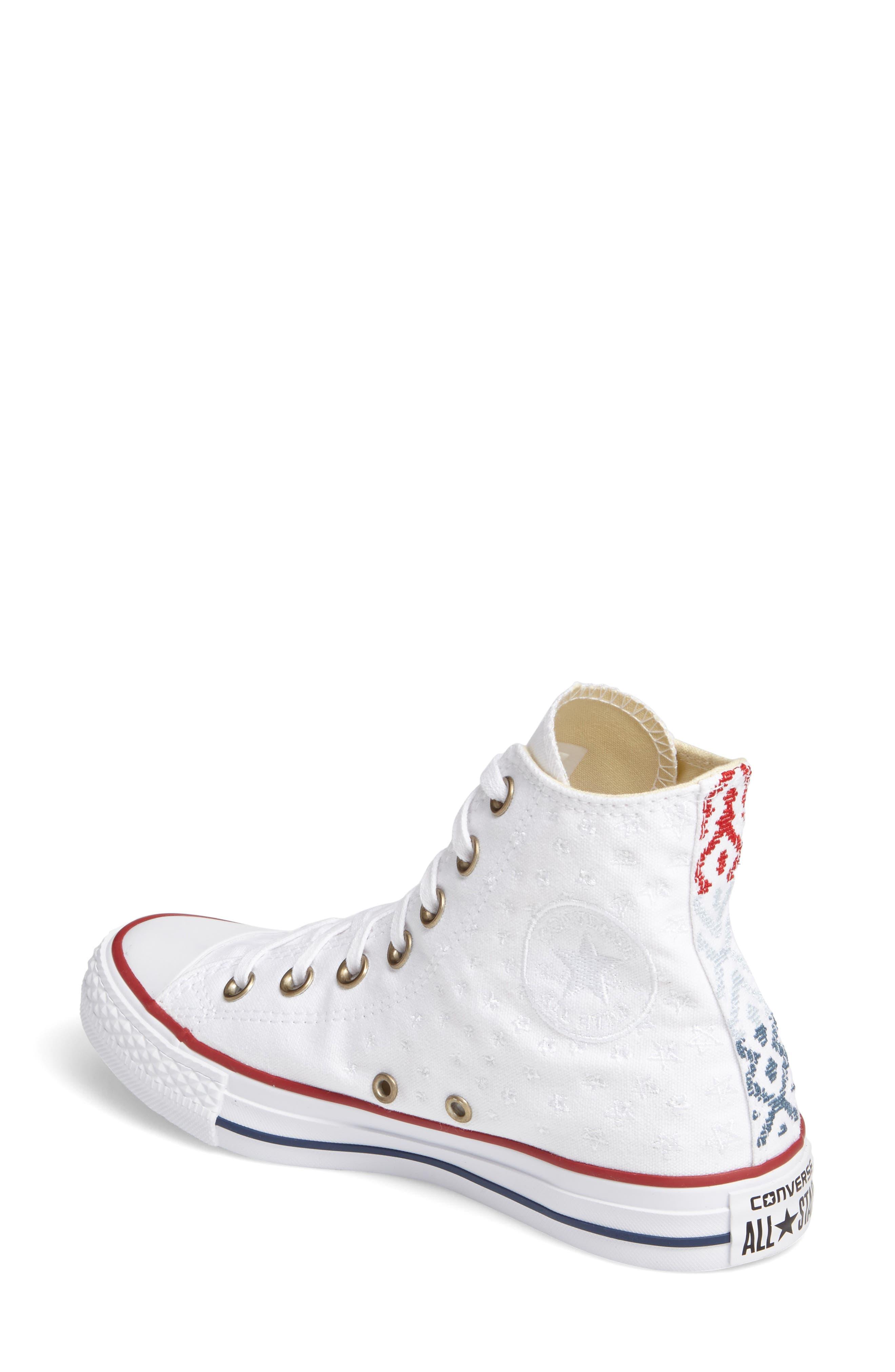 Alternate Image 2  - Converse Chuck Taylor® High Top Sneaker (Women)