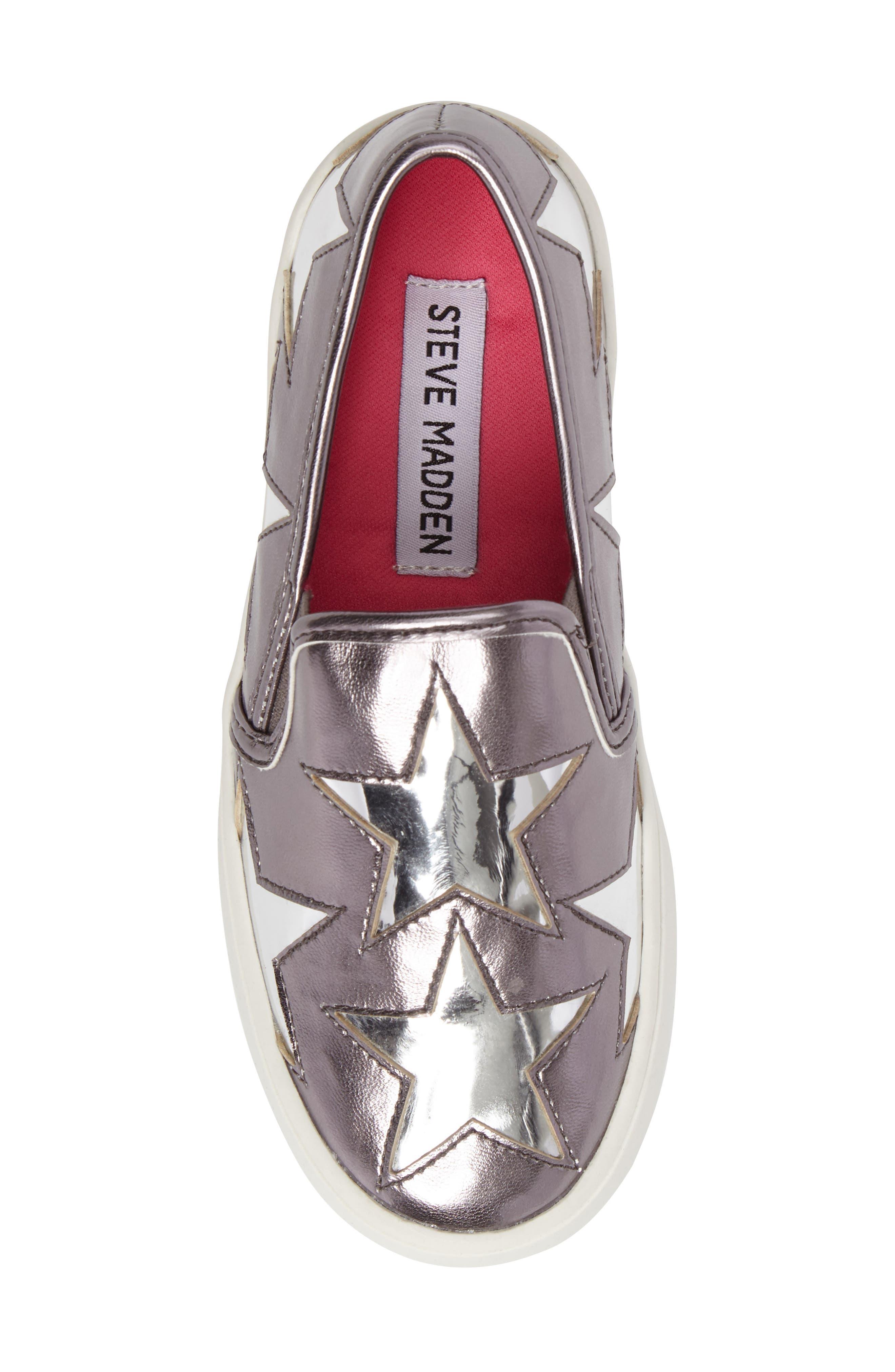Famouse Star Slip-On Sneaker,                             Alternate thumbnail 5, color,                             Pewter