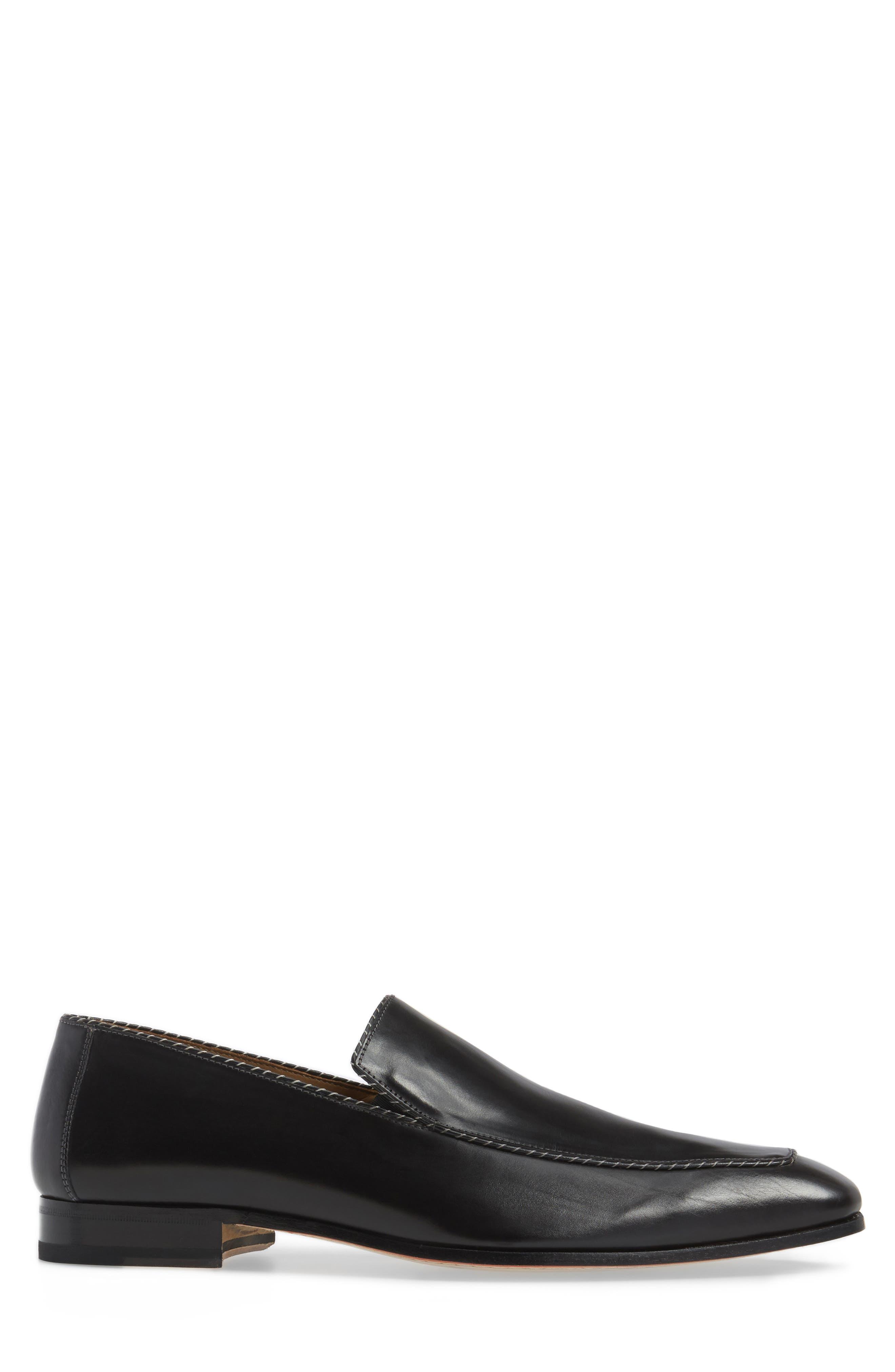 Brandt Venetian Loafer,                             Alternate thumbnail 3, color,                             Black Leather