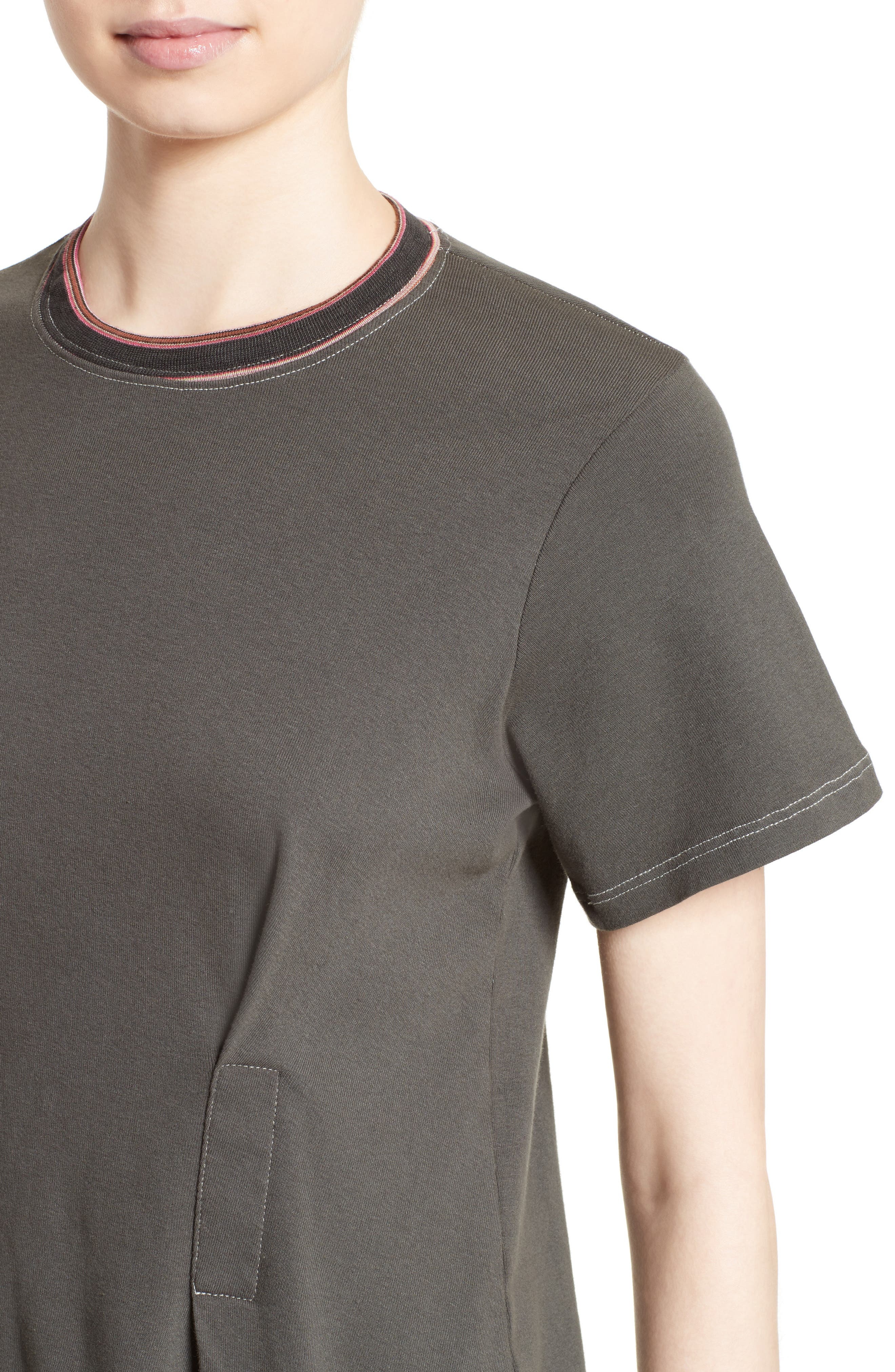 Top Stitch Tee,                             Alternate thumbnail 6, color,                             Off Black
