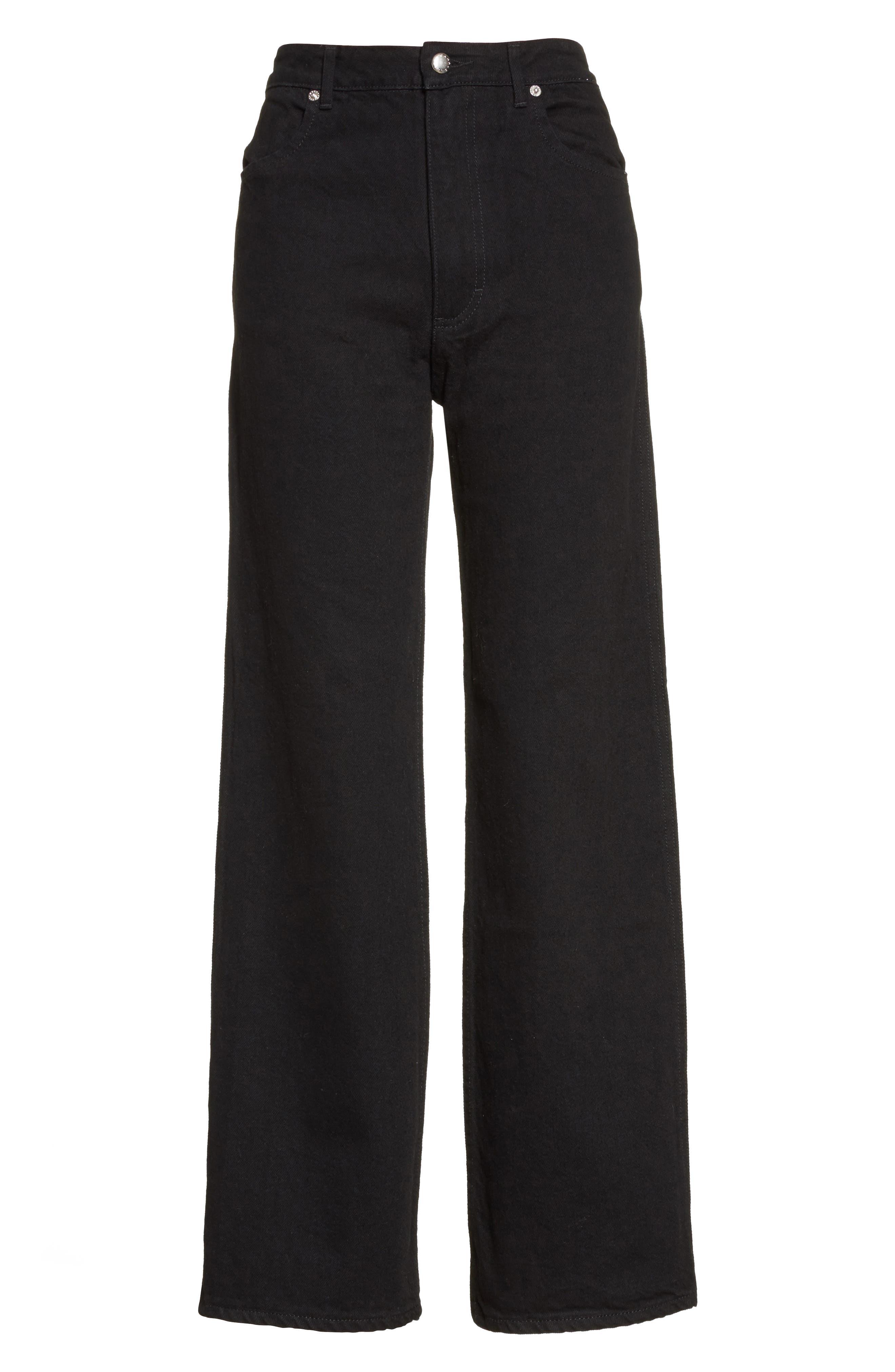 Alternate Image 4  - Eckhaus Latta EL Wide Leg Jeans (Almost Black)