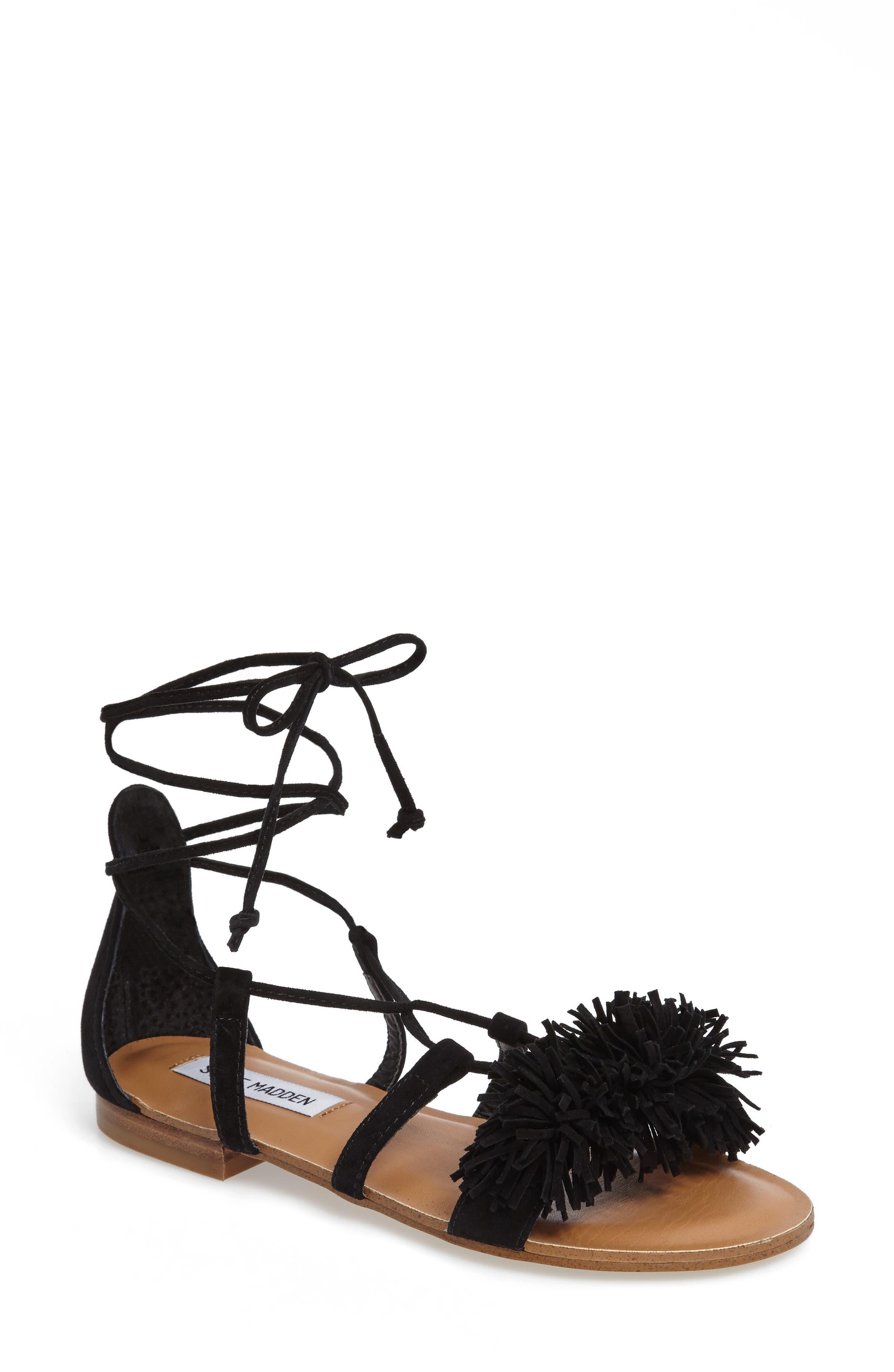 Alternate Image 1 Selected - Steve Madden Swizzle Lace-Up Sandal (Women)