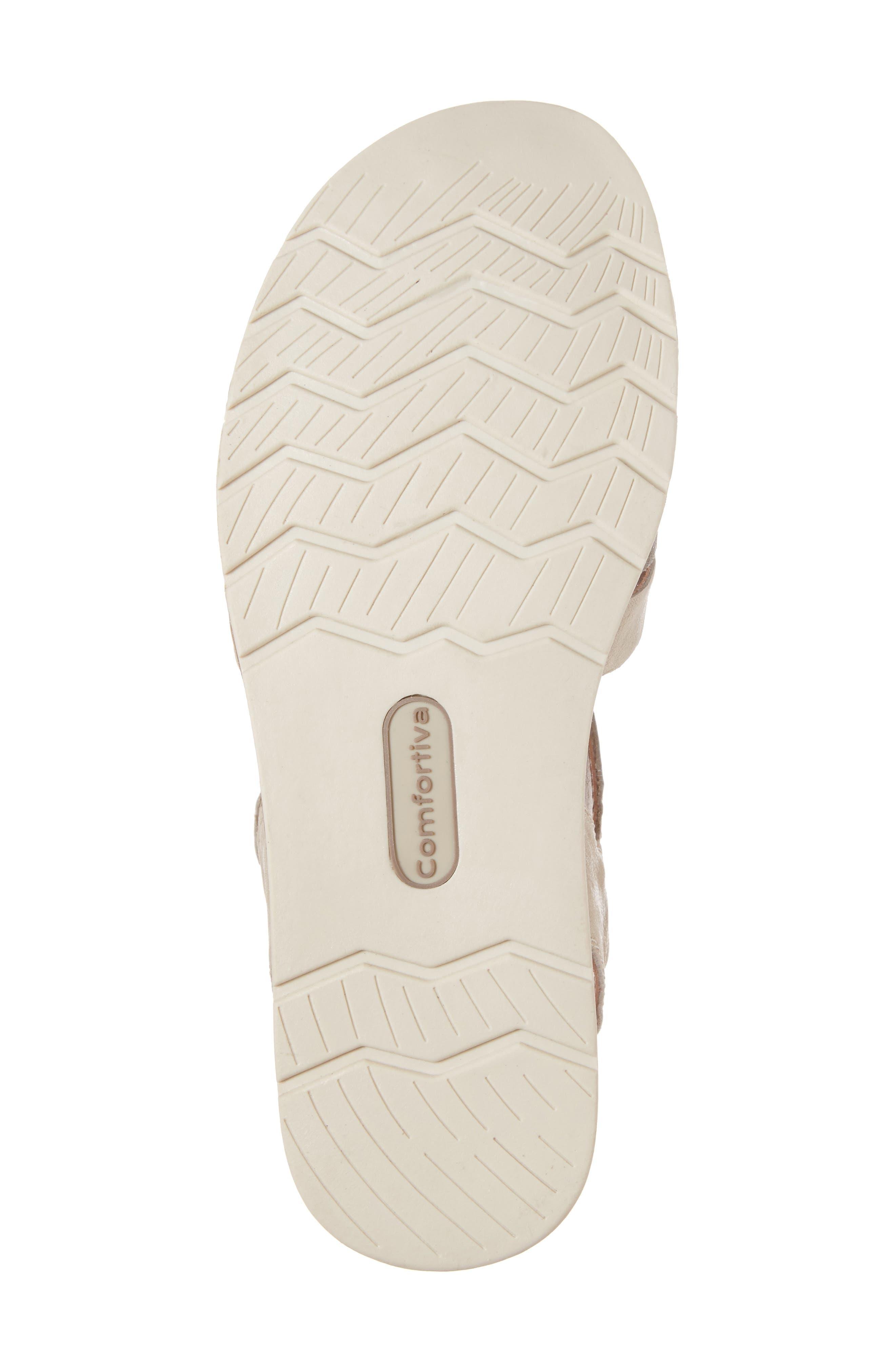 Alonsa Sandal,                             Alternate thumbnail 6, color,                             Light Grey/ Blush Leather