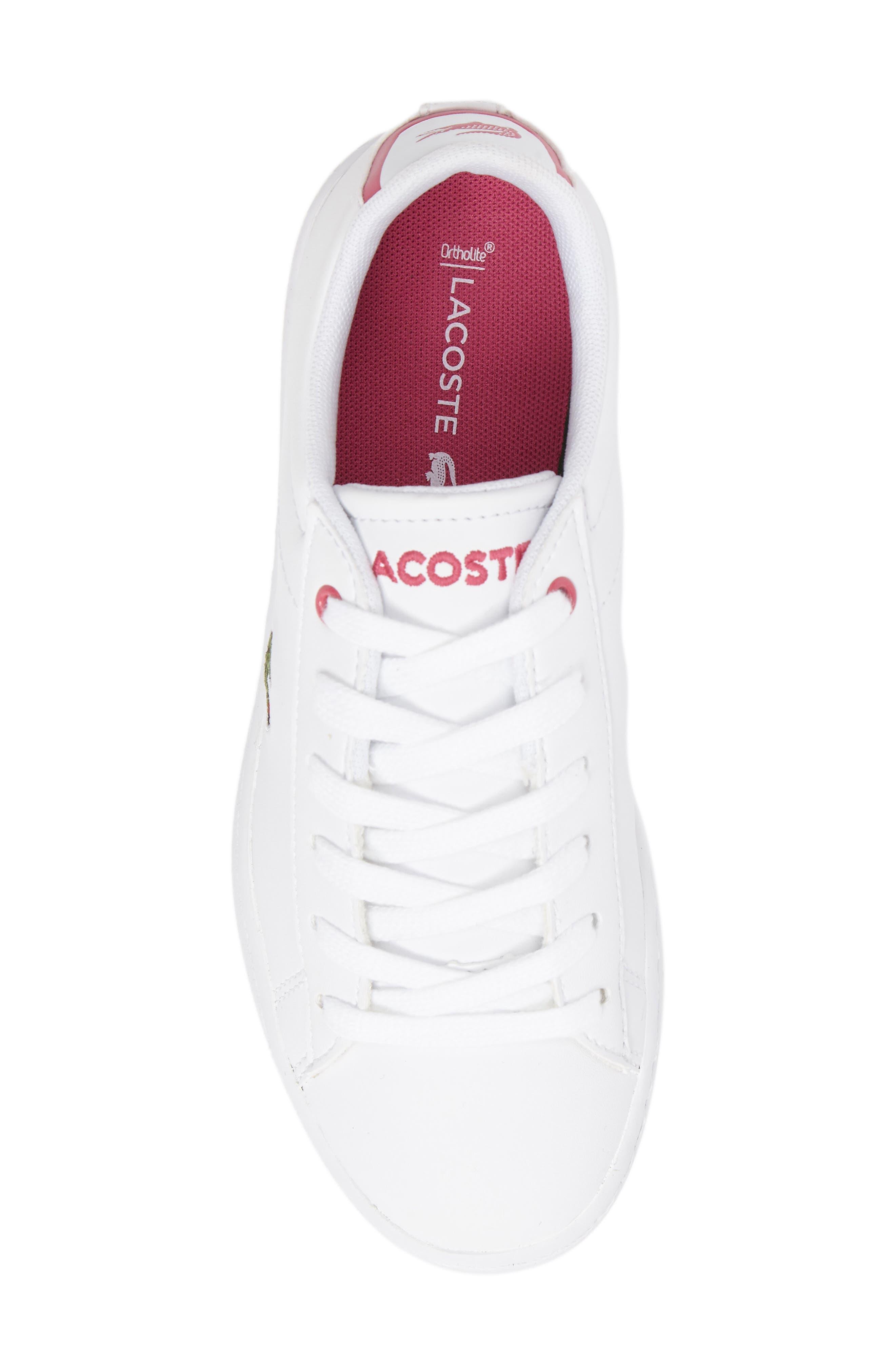 Carnaby EVO Sneaker,                             Alternate thumbnail 5, color,                             White/ Pink