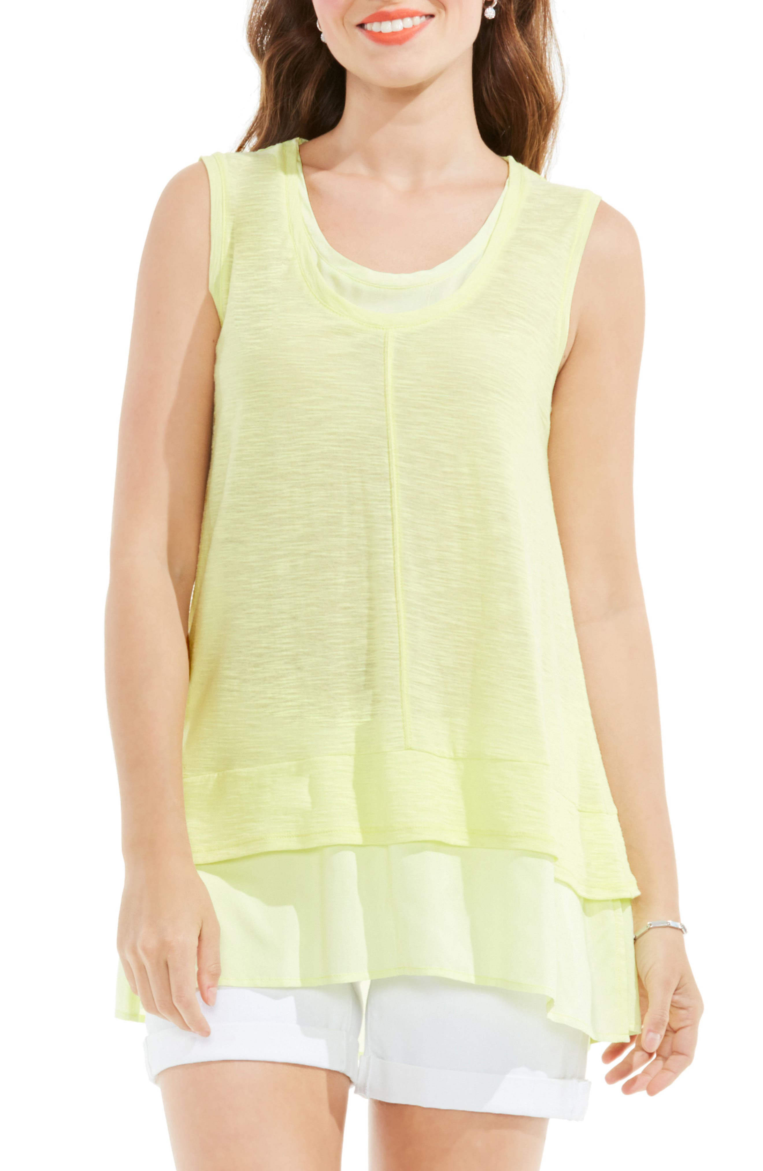 Two by Vince Camuto Double Layer Top