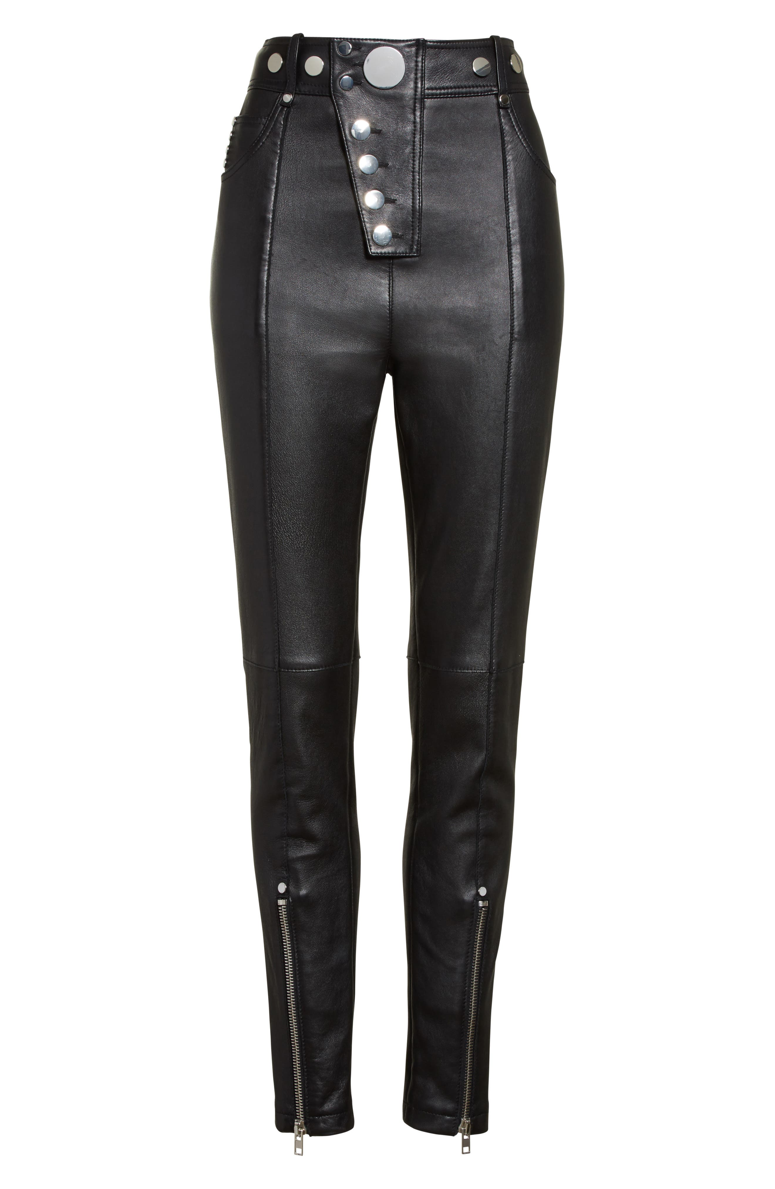 Alternate Image 4  - Alexander Wang High Waist Leather Pants