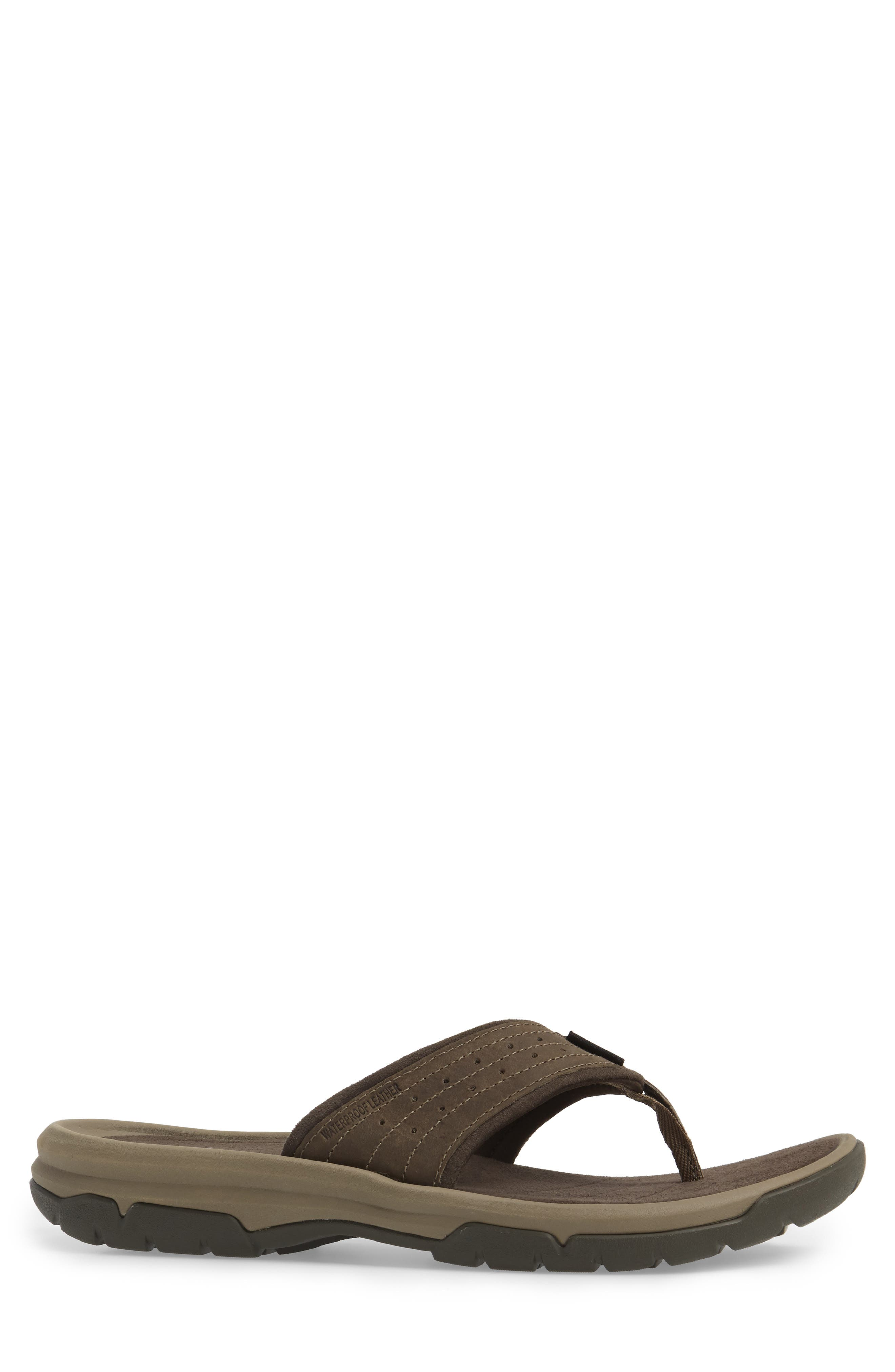 Langdon Flip Flop,                             Alternate thumbnail 3, color,                             Walnut