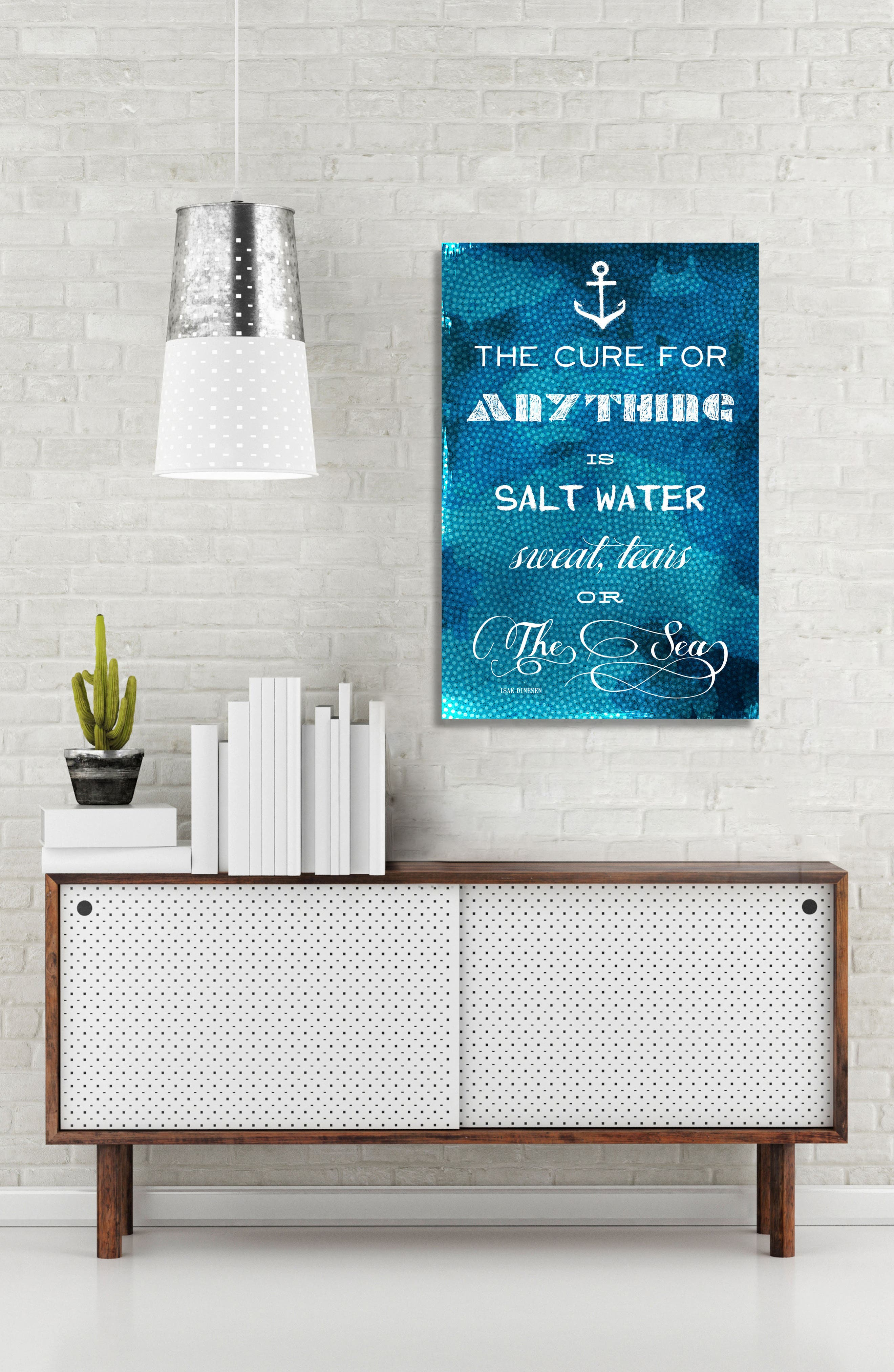 Surfing Canvas Wall Art,                             Alternate thumbnail 2, color,                             Blue