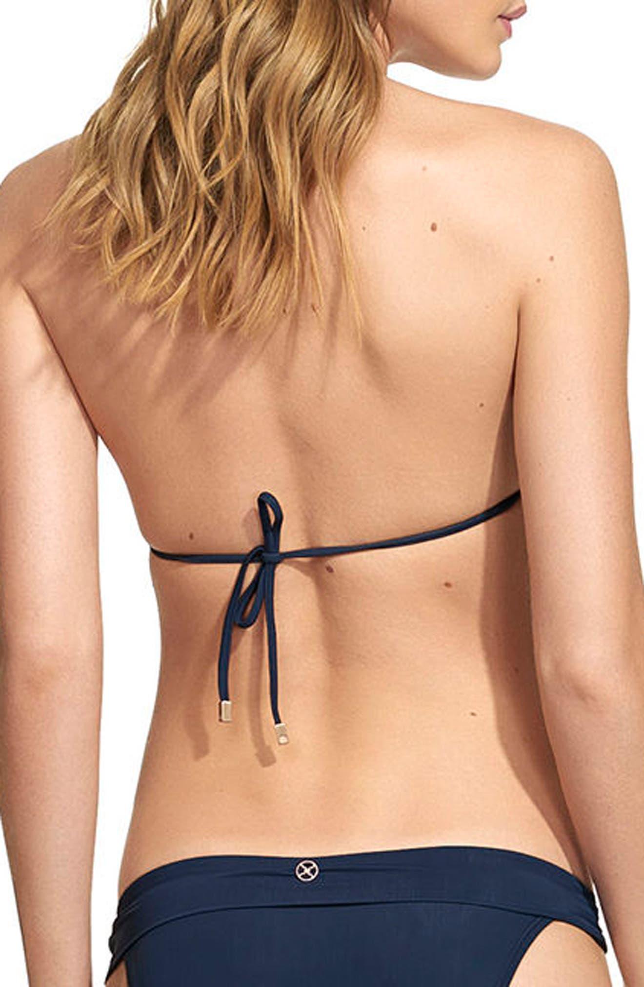 Midnight Bia Bikini Top,                             Alternate thumbnail 2, color,                             Navy