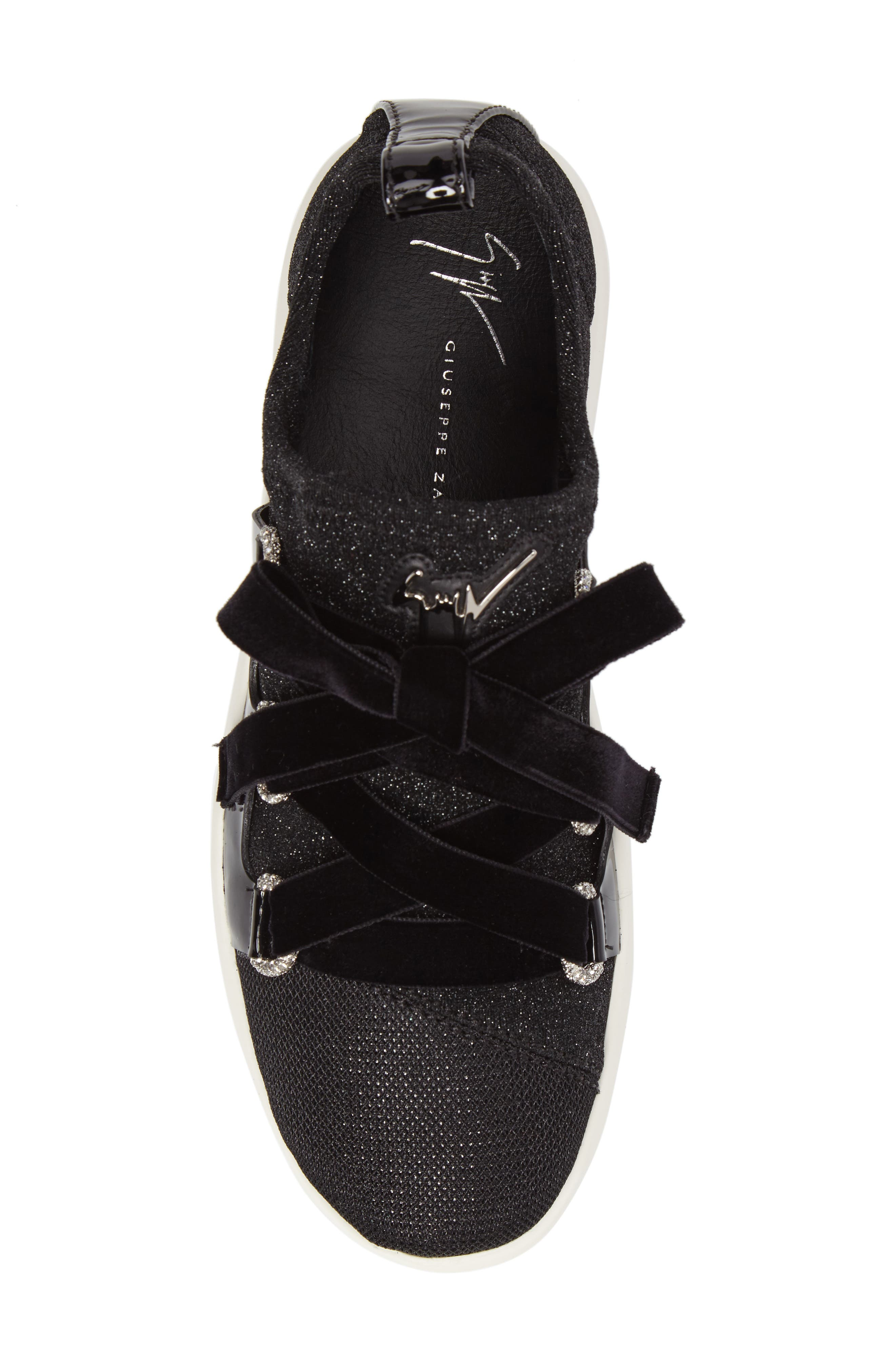 Alternate Image 4  - Giuseppe Zanotti Laurex Glitter Sneaker (Women)