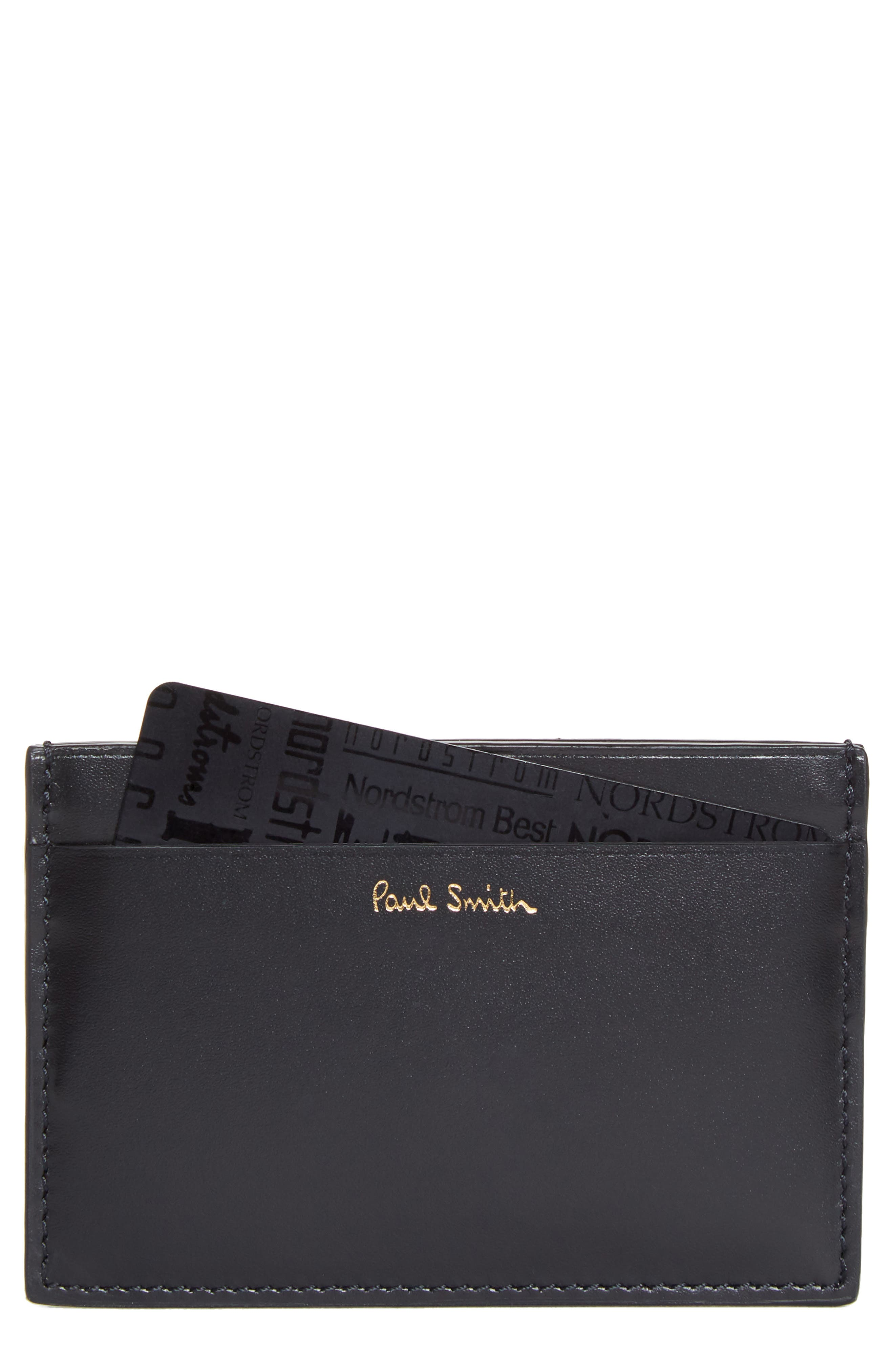 Main Image - Paul Smith Horniman Print Calfskin Leather Card Case