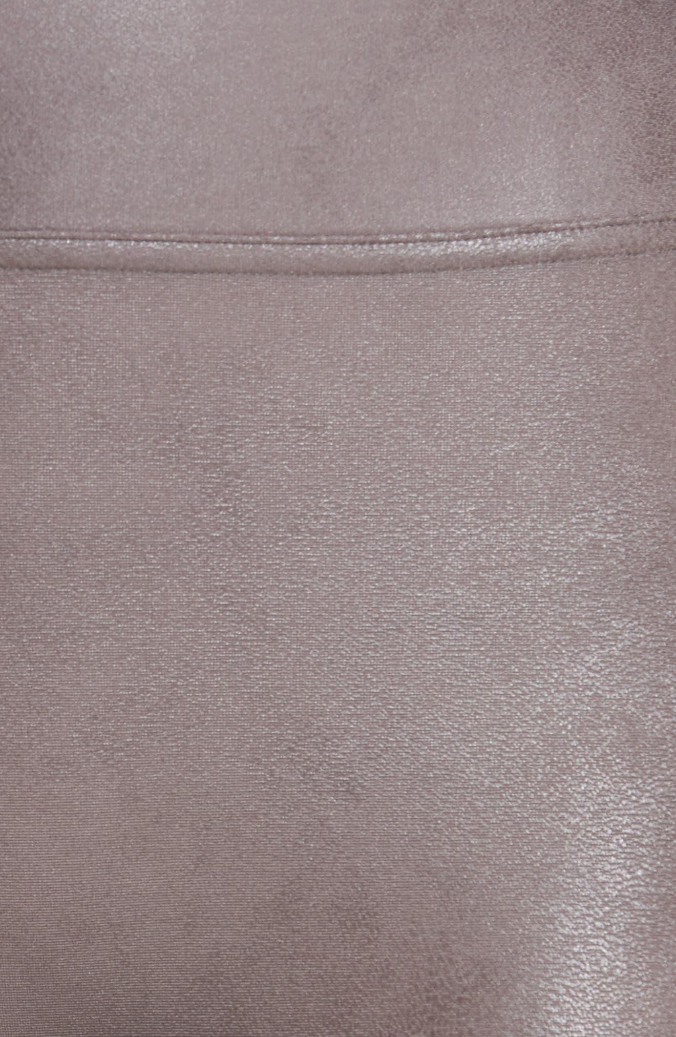 Faux Leather Leggings,                             Alternate thumbnail 6, color,                             Antique Rose