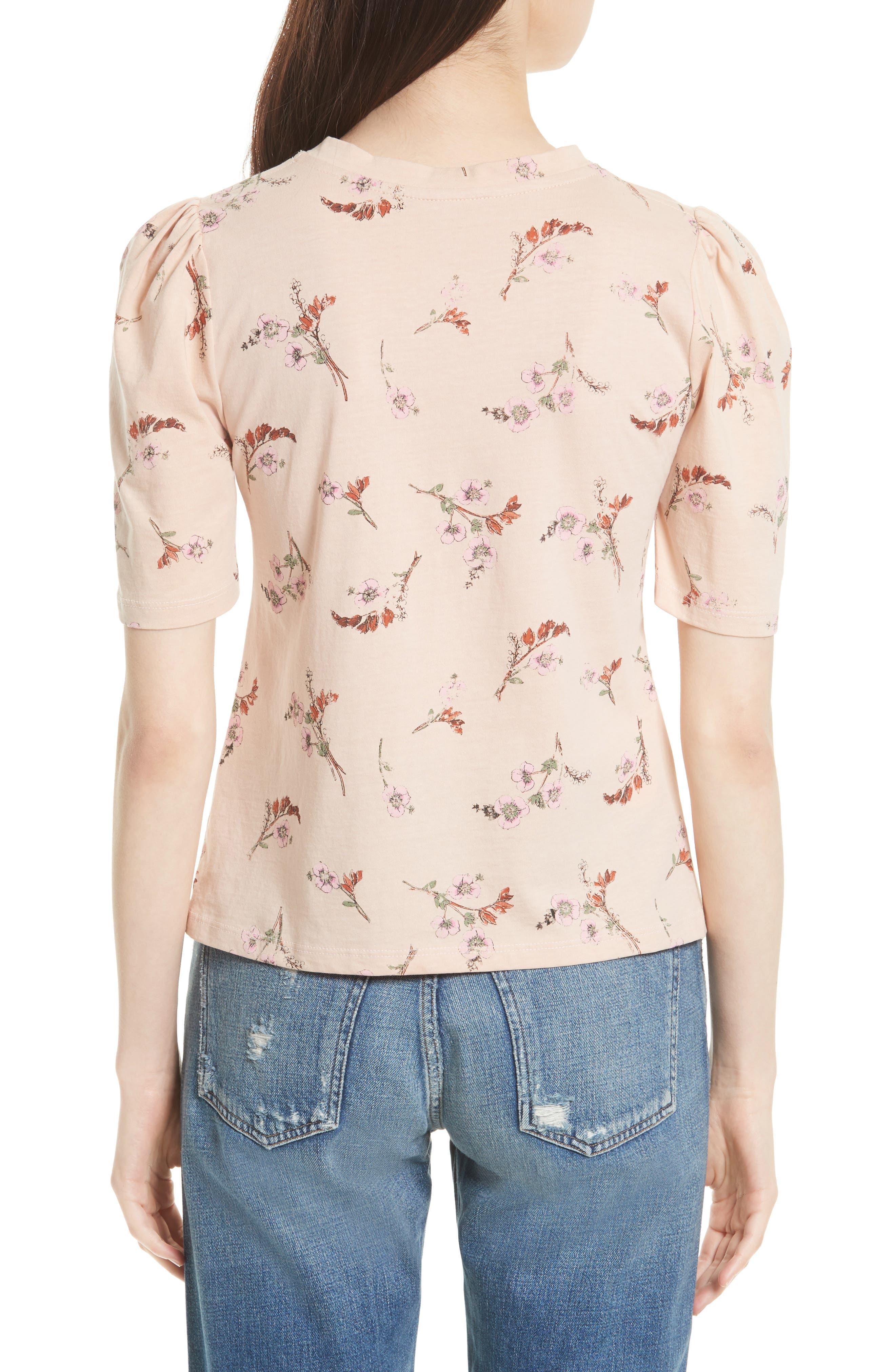 Alternate Image 2  - Rebecca Taylor Natalie Fleur Cotton Jersey Top