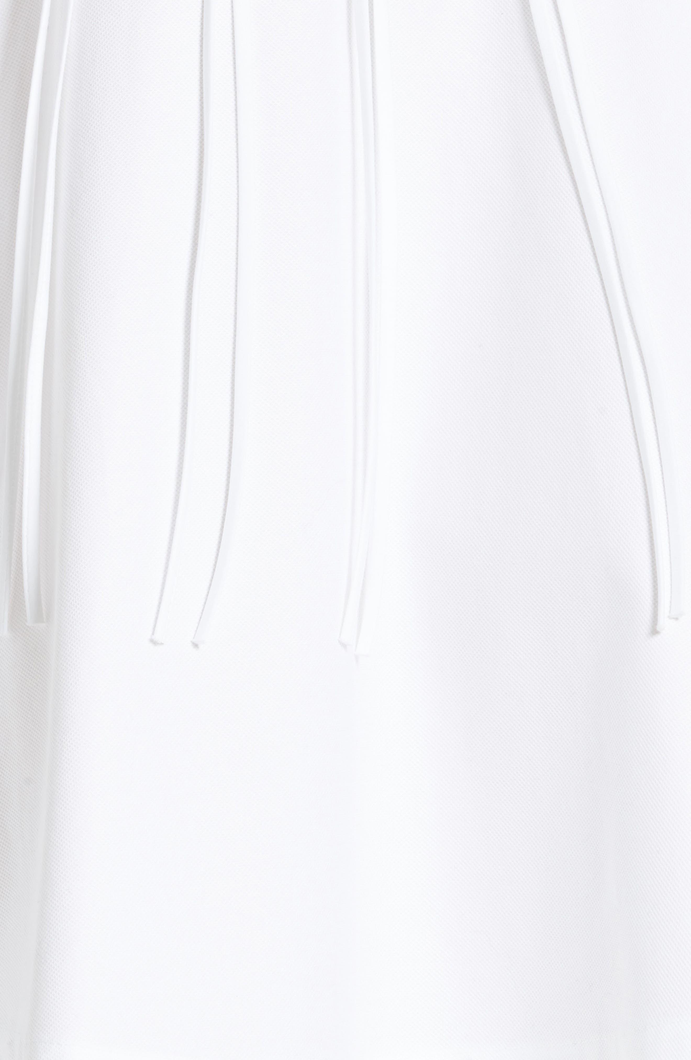 Cotton Poplin Shirtdress,                             Alternate thumbnail 3, color,                             Eggshell
