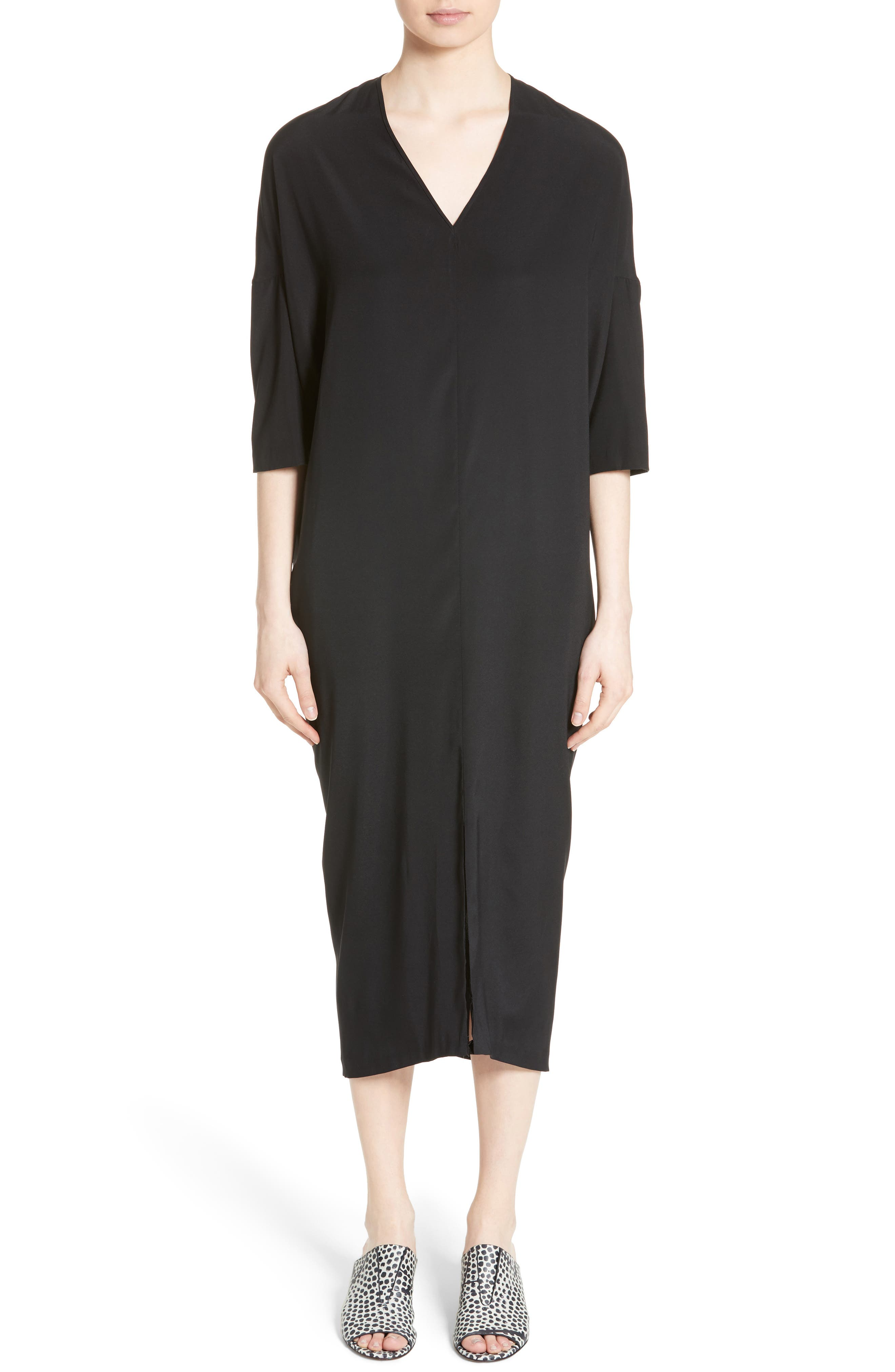 Zero + Maria Cornejo Koya Stretch Silk Charmeuse Dress