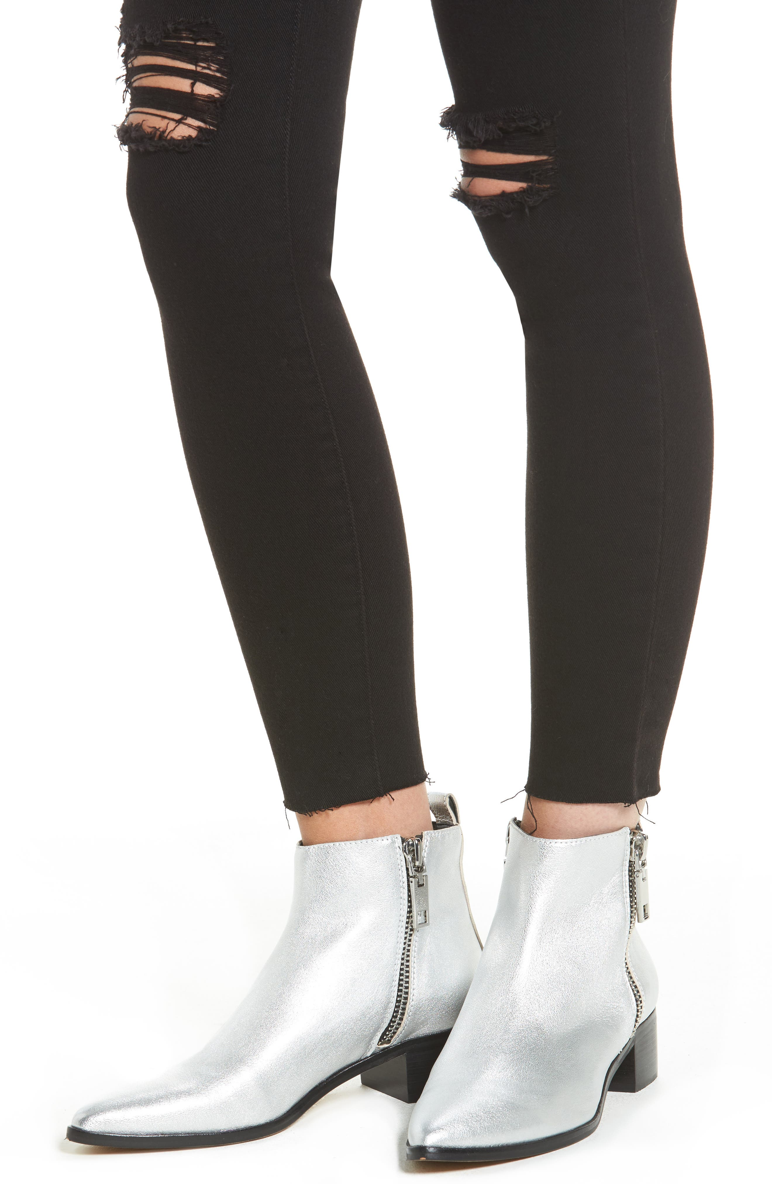 Alternate Image 4  - STS Blue Ashley High Waist Ankle Skinny Jeans