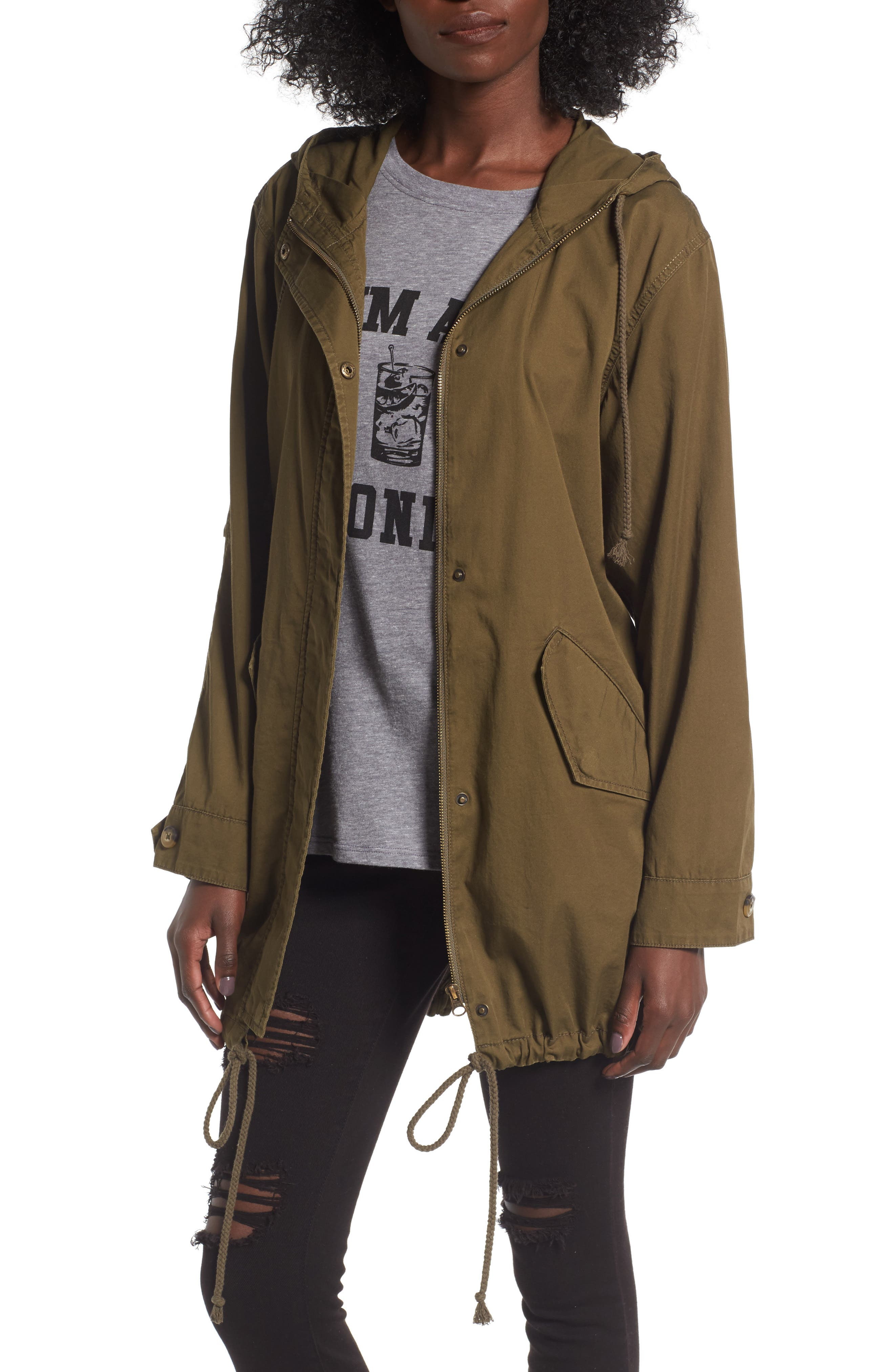 Main Image - BP. Hooded Cotton Anorak