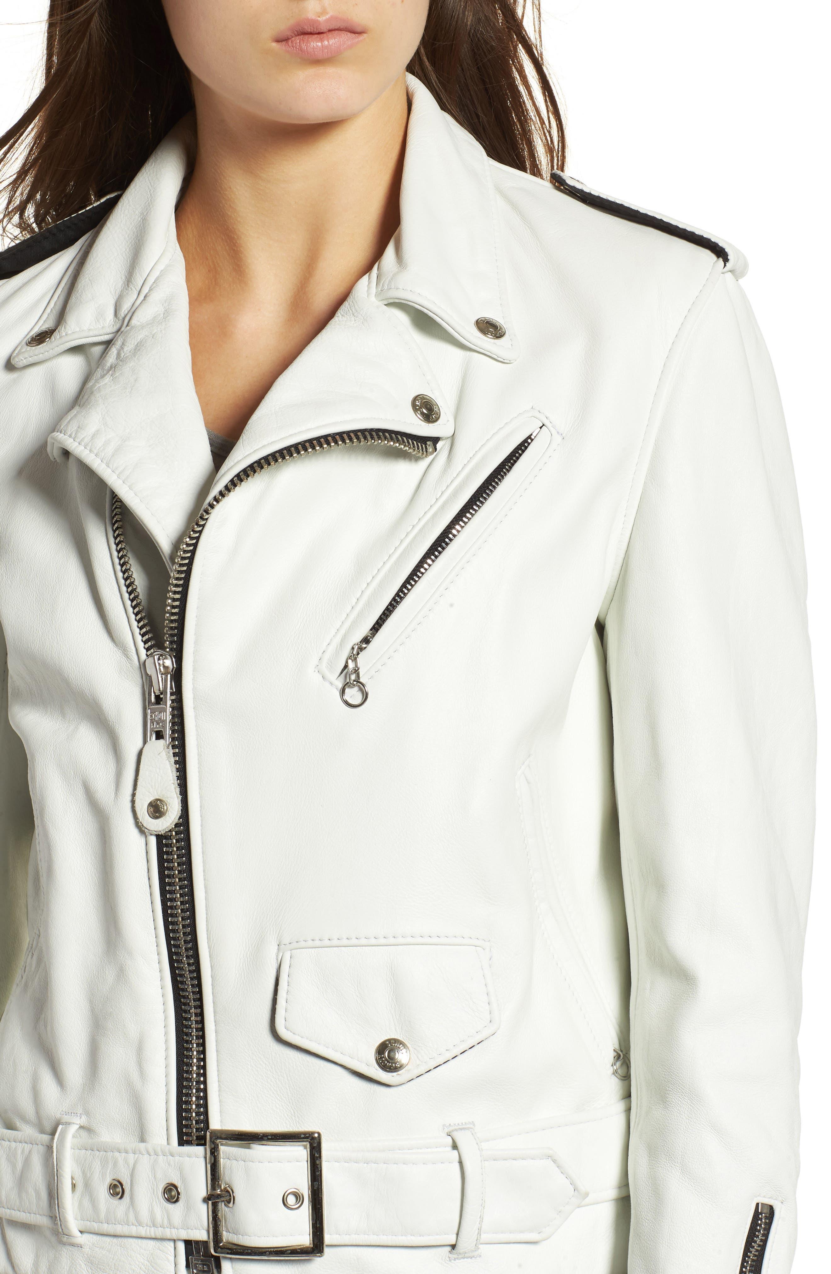 Alternate Image 4  - Schott NYC Boyfriend Leather Jacket