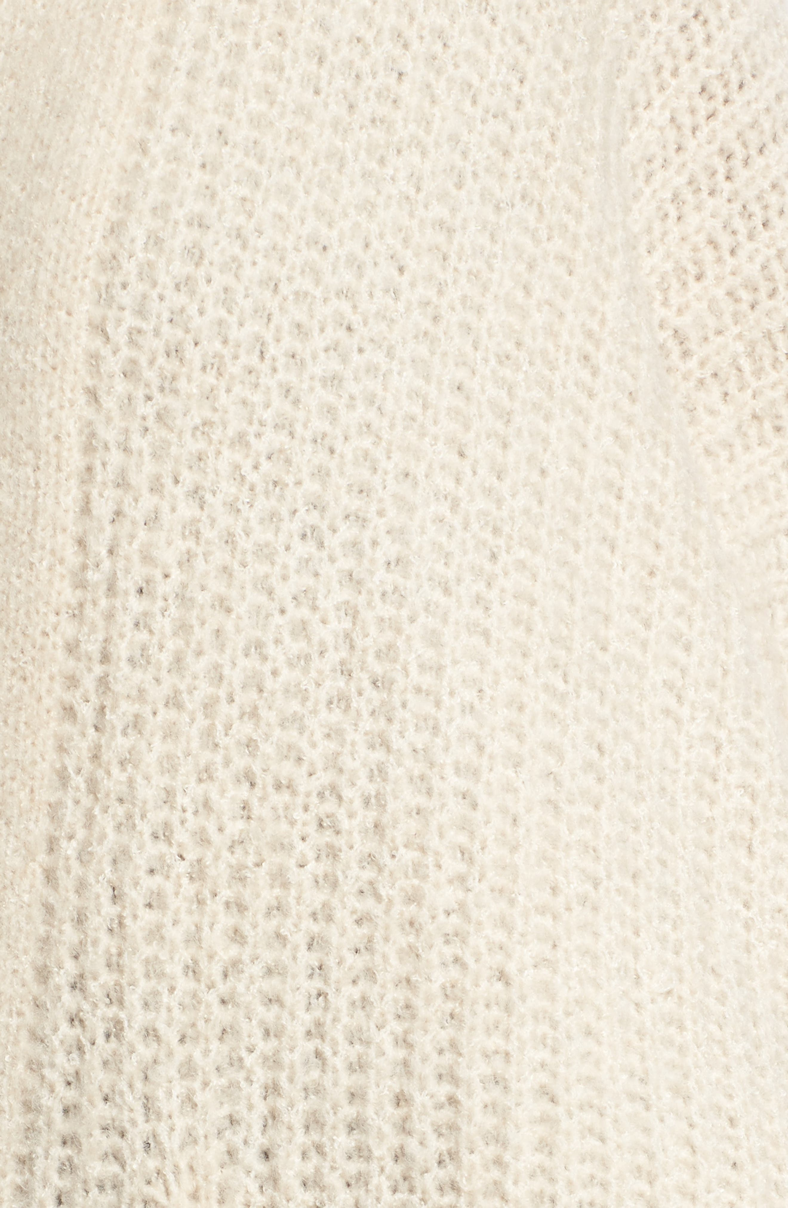 Alternate Image 5  - Dreamers by Debut Rib Knit Open Cardigan