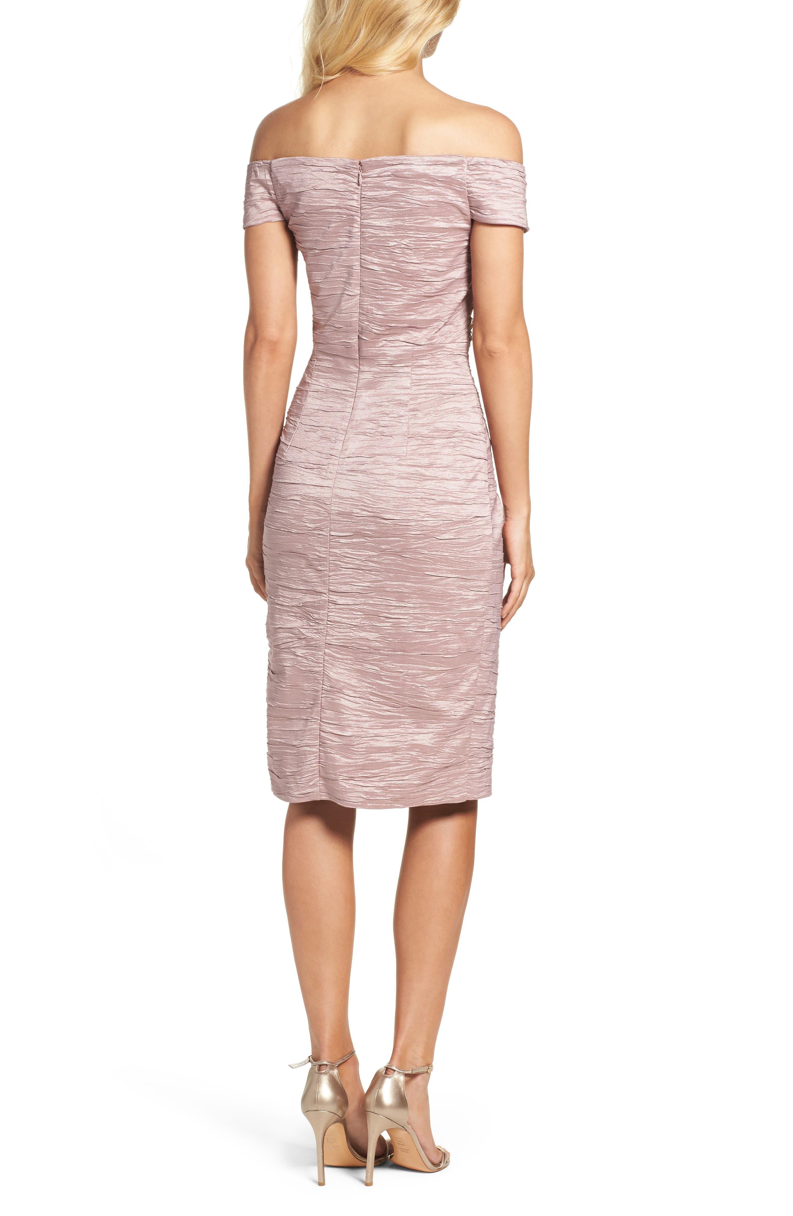 Alternate Image 2  - Eliza J Off the Shoulder Taffeta Dress (Regular & Petite)